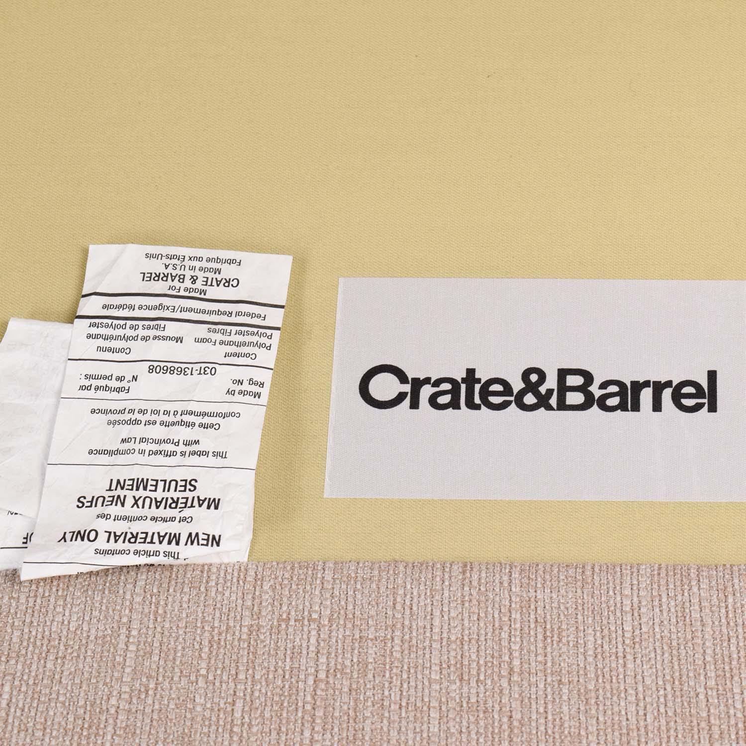 Crate And Barrel Rochelle Desert Sofa For