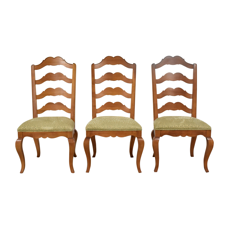 Ethan Allen Ethan Allen Ladder Back Dining Side Chairs nj