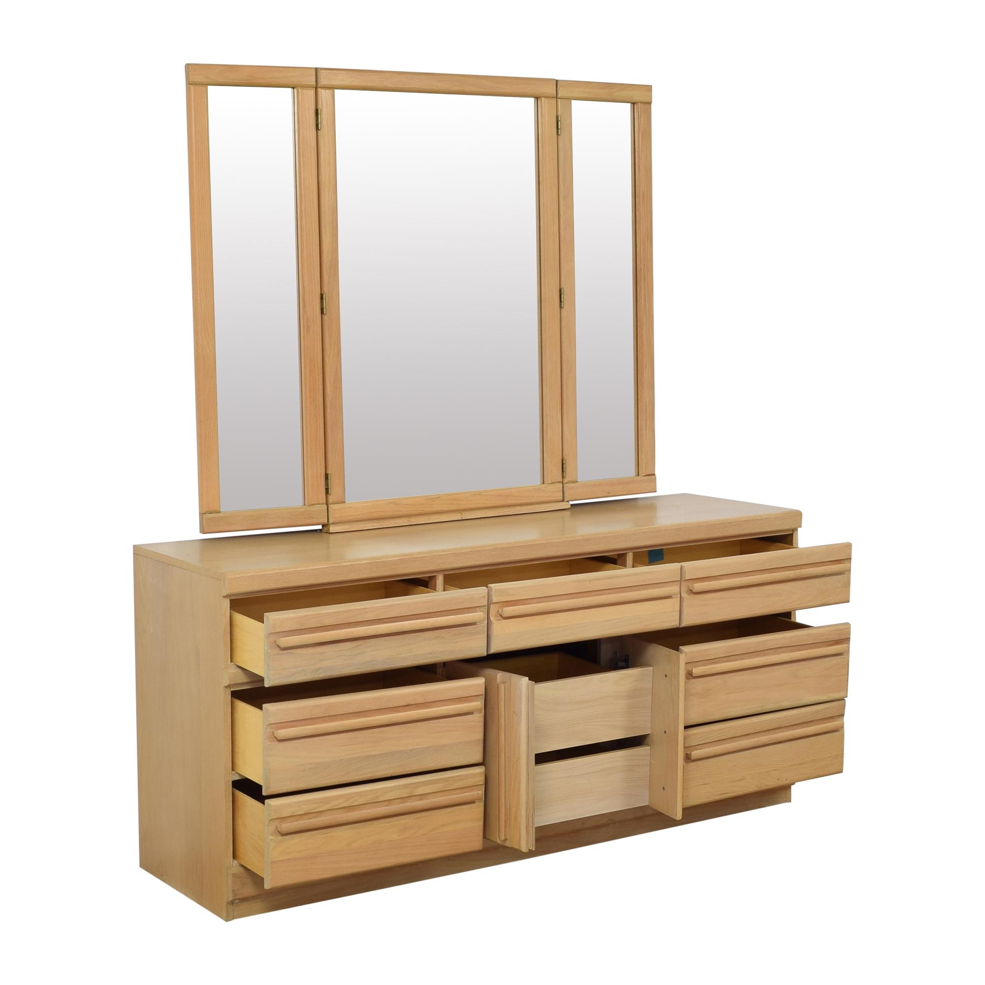 Broyhill Furniture Broyhill Triple Dresser with Mirror nyc