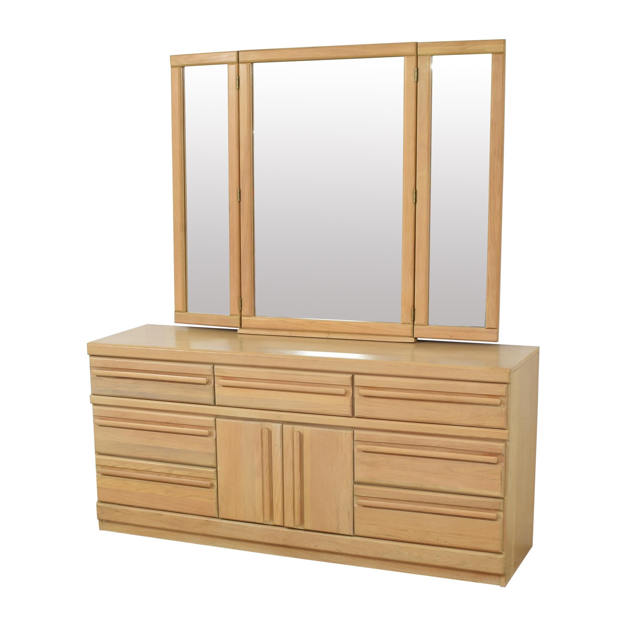 shop Broyhill Triple Dresser with Mirror Broyhill Furniture