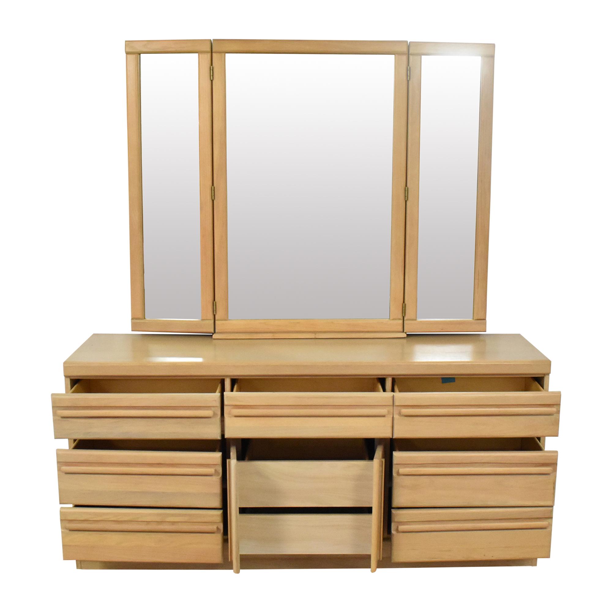 Broyhill Furniture Broyhill Triple Dresser with Mirror on sale