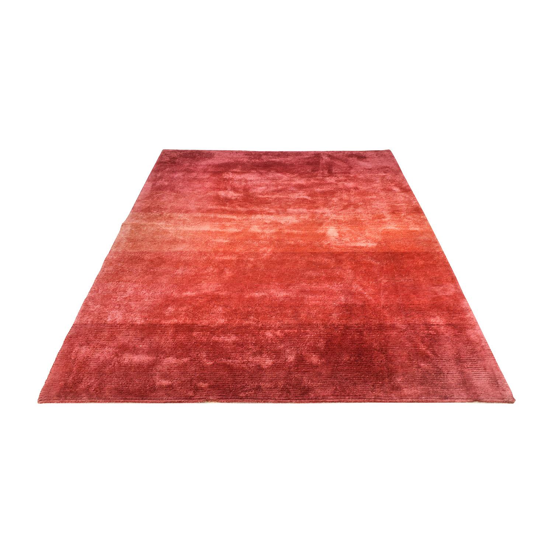 Handmade Pure Wool Red Turkish Rug on sale
