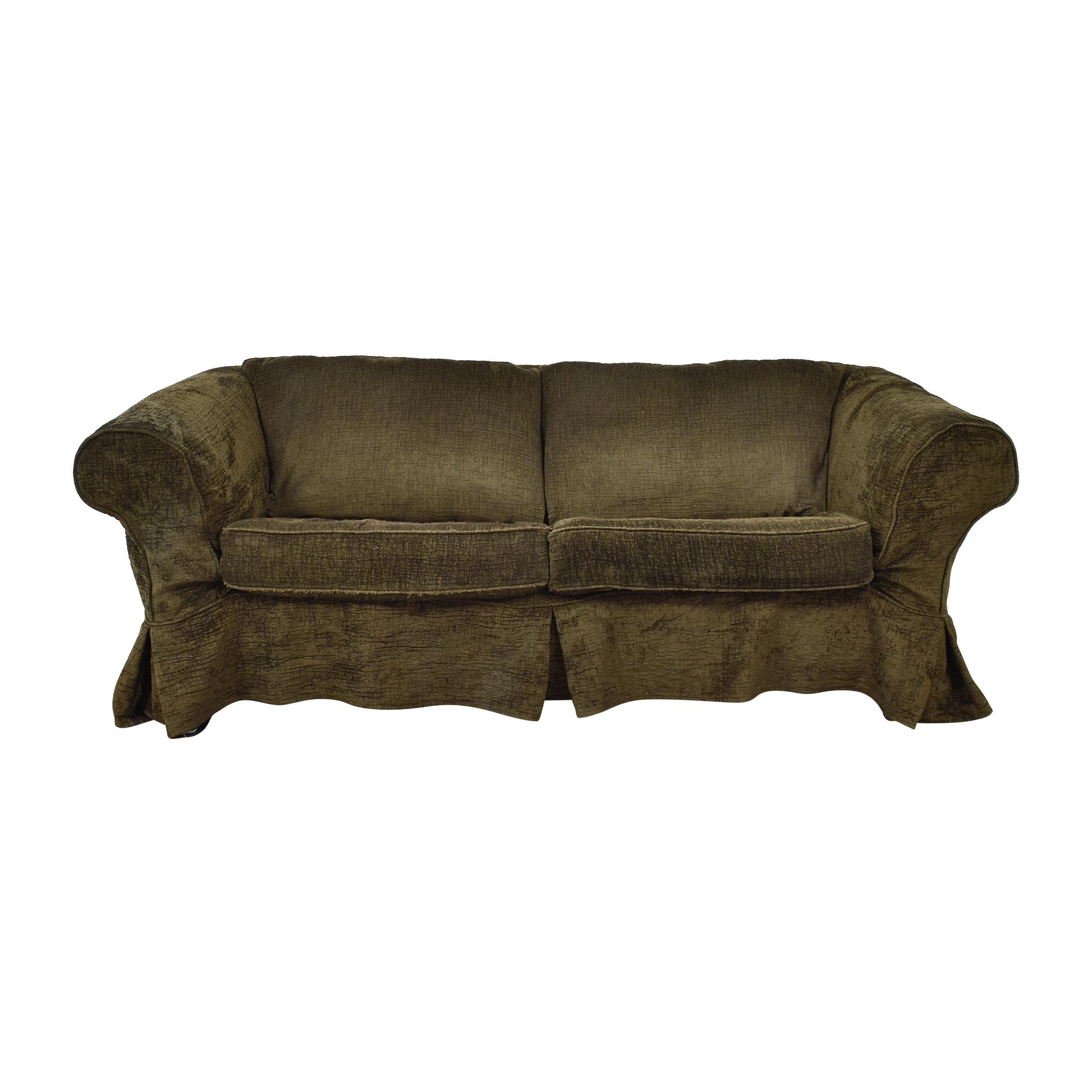 Mitchell Gold + Bob Williams Mitchell Gold Roll Arm Slipcovered Sleeper Sofa ma