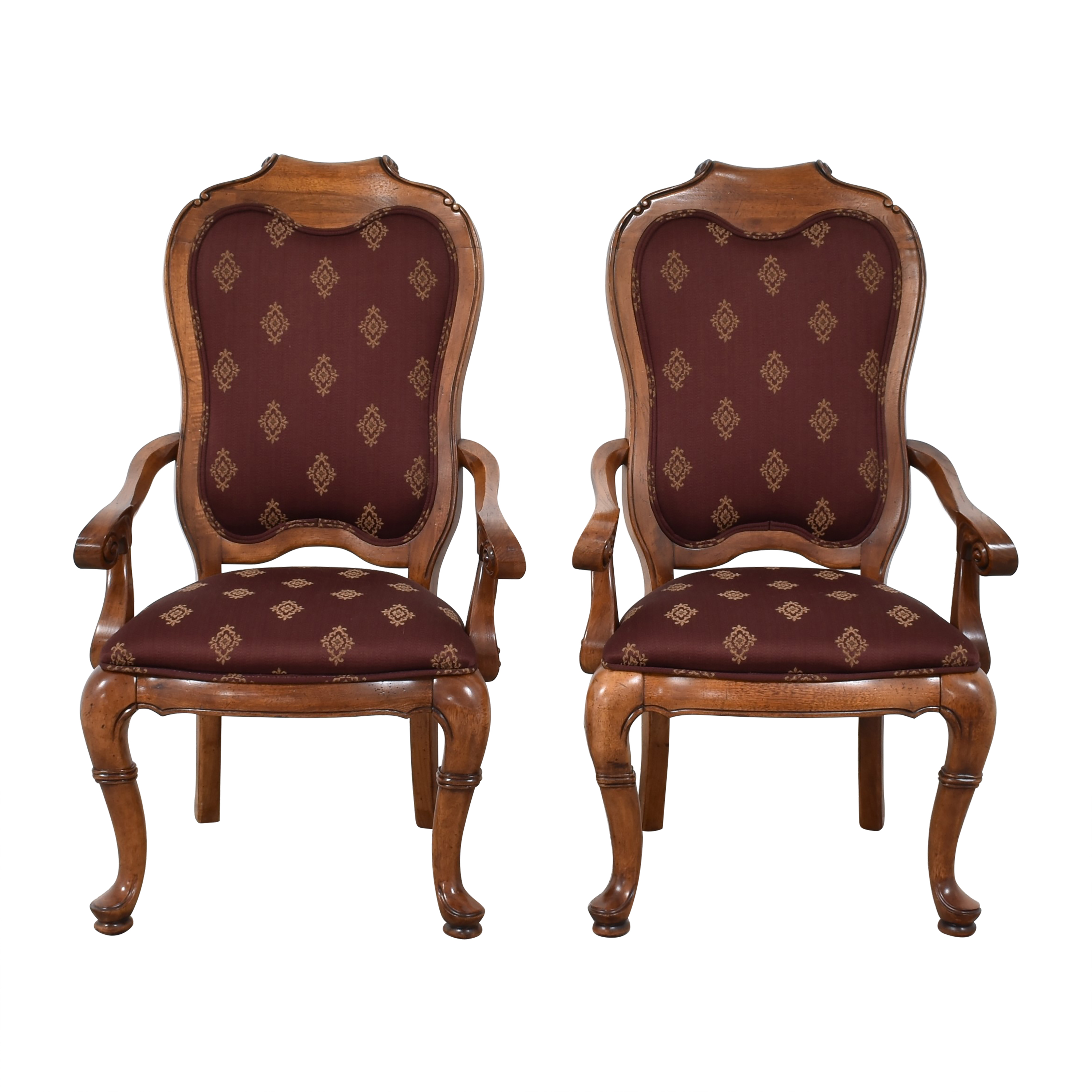 Thomasville Upholstered Dining Arm Chairs sale