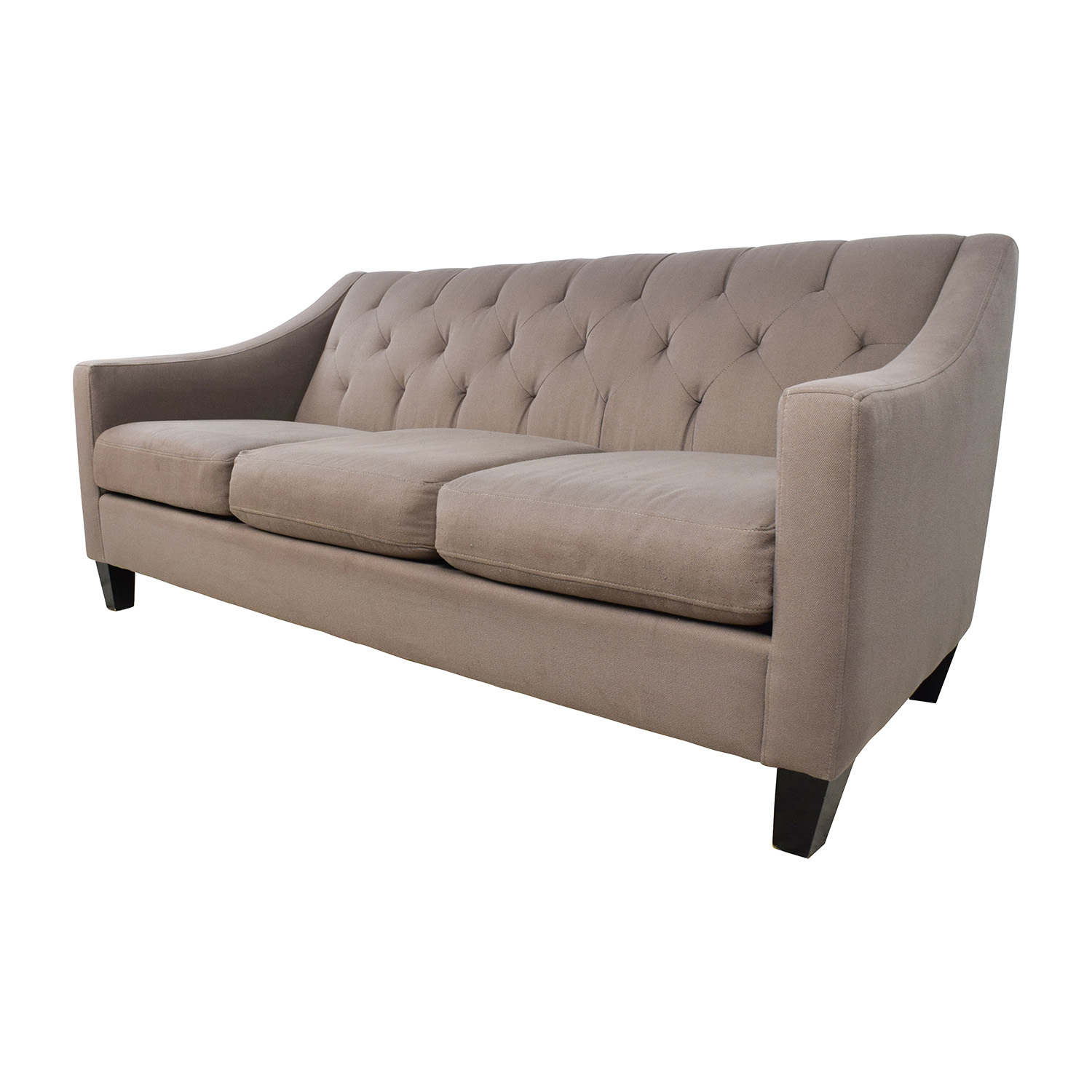 65% OFF Macy s Macy s Tufted Back Grey Couch Sofas