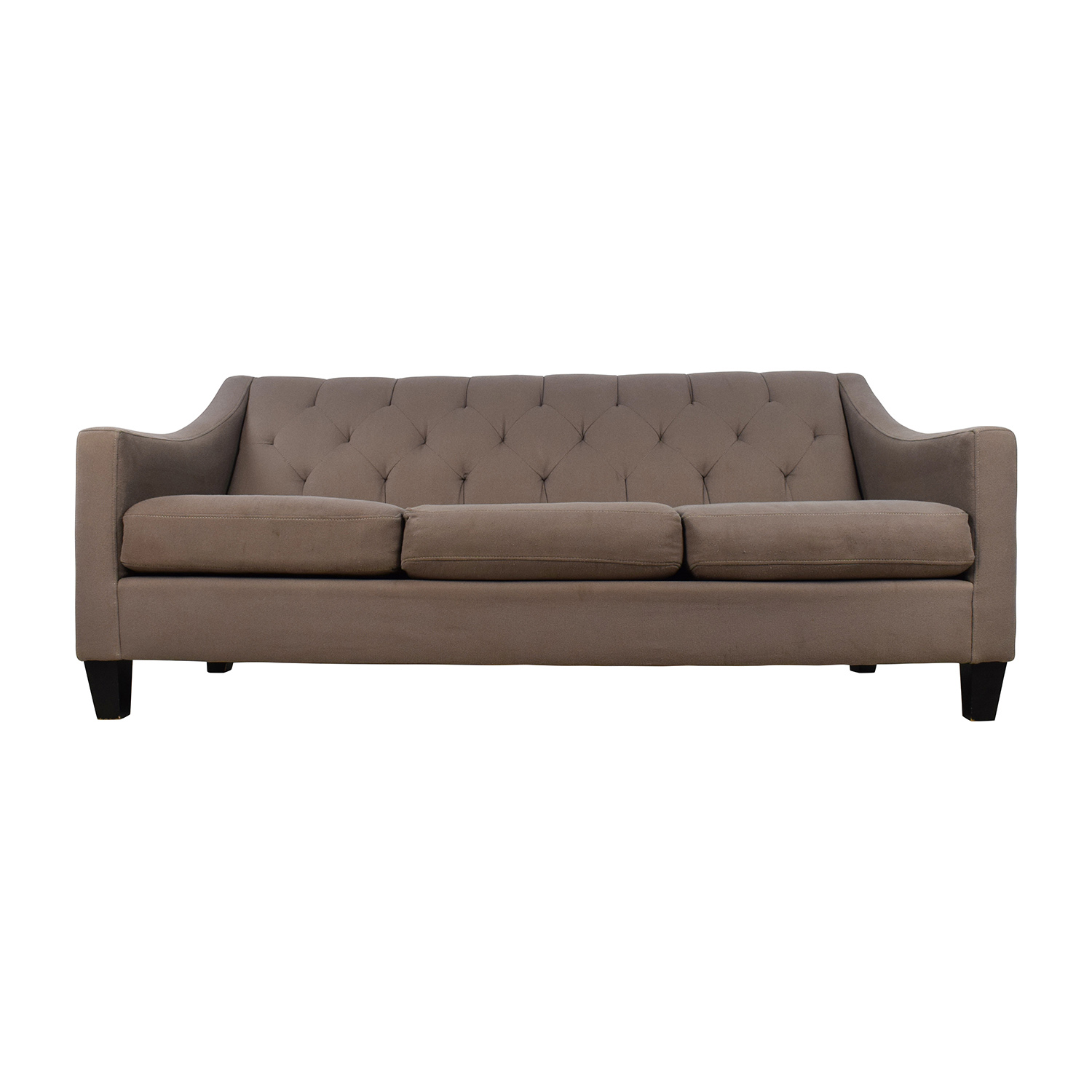 Brand-new 65% OFF - Macy's Macy's Tufted Back Grey Couch / Sofas EQ51