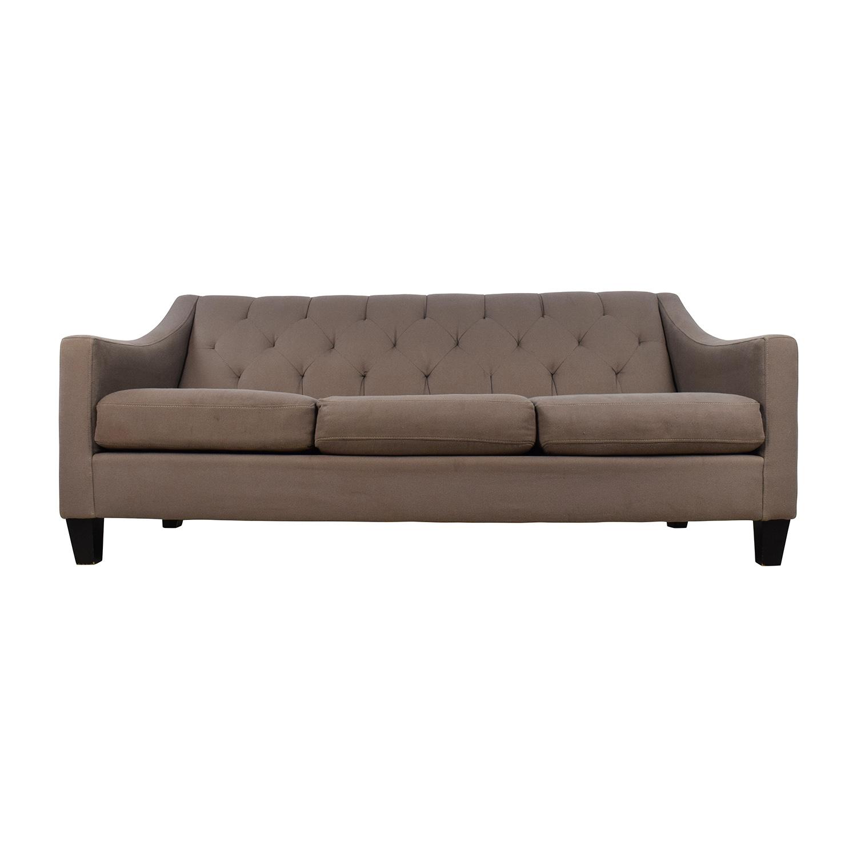 Macys Furniture Sofa: Macy's Macy's Tufted Back Grey Couch / Sofas