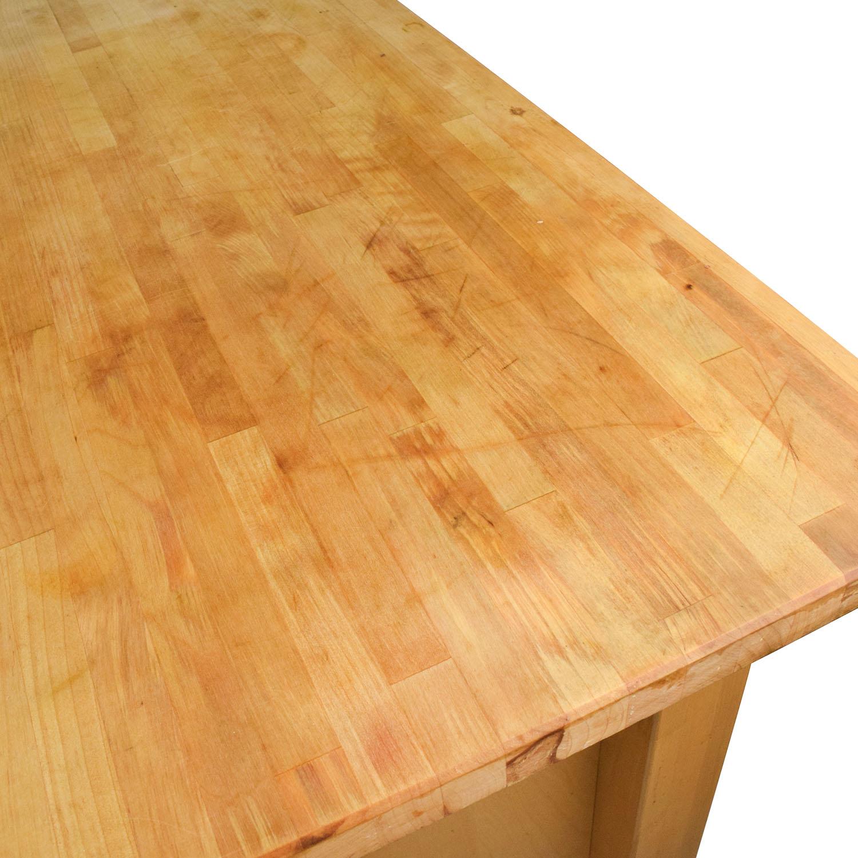 62% OFF - IKEA IKEA Varde Kitchen Butcher Block Island with Storage / Tables