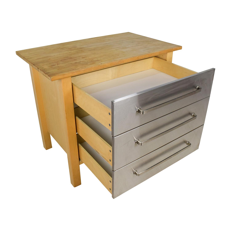 Ikea Kitchen Butcher Block Table : 62% OFF - IKEA IKEA Varde Kitchen Butcher Block Island with Storage / Tables