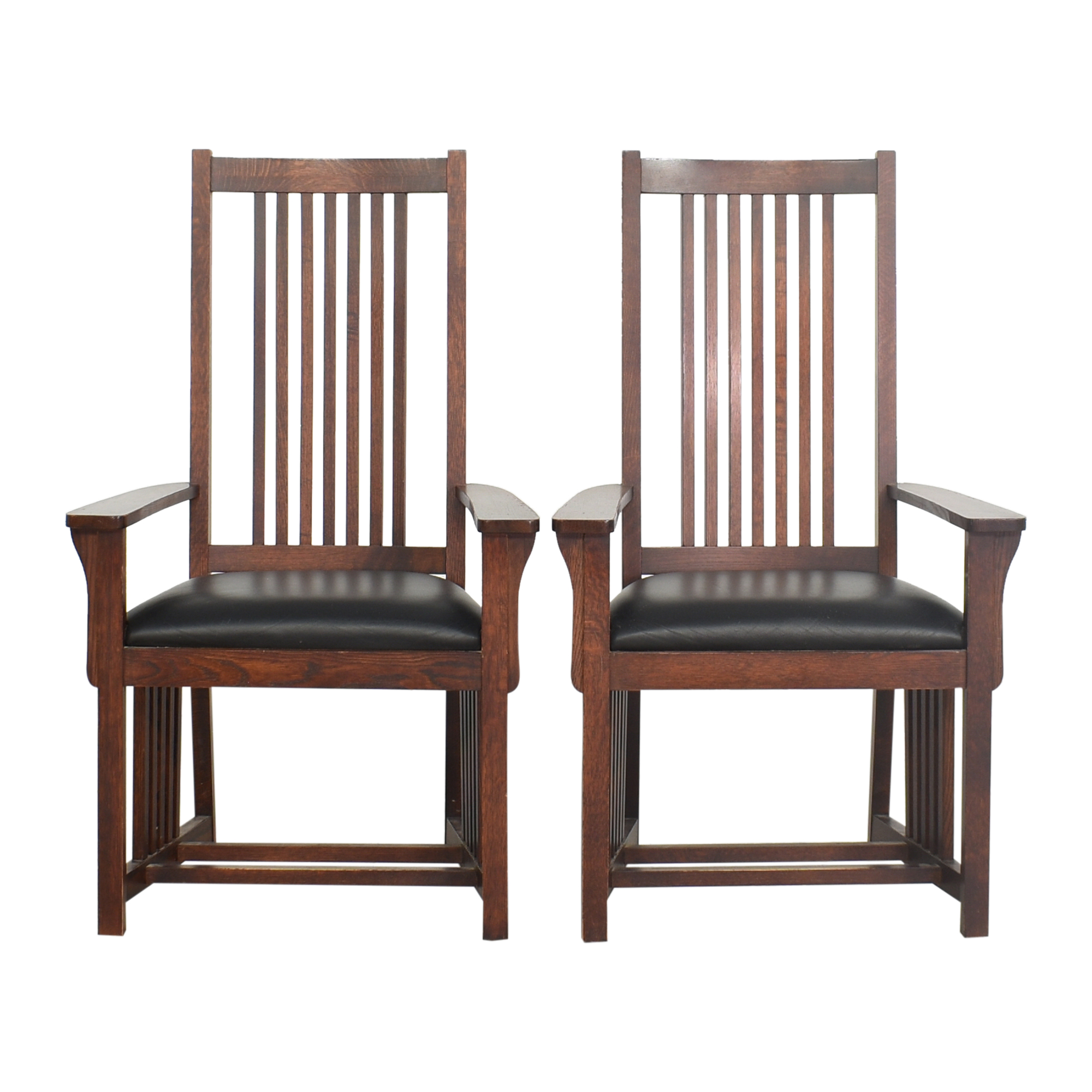 Le Meuble Villageois Mission Style Dining Arm Chairs sale