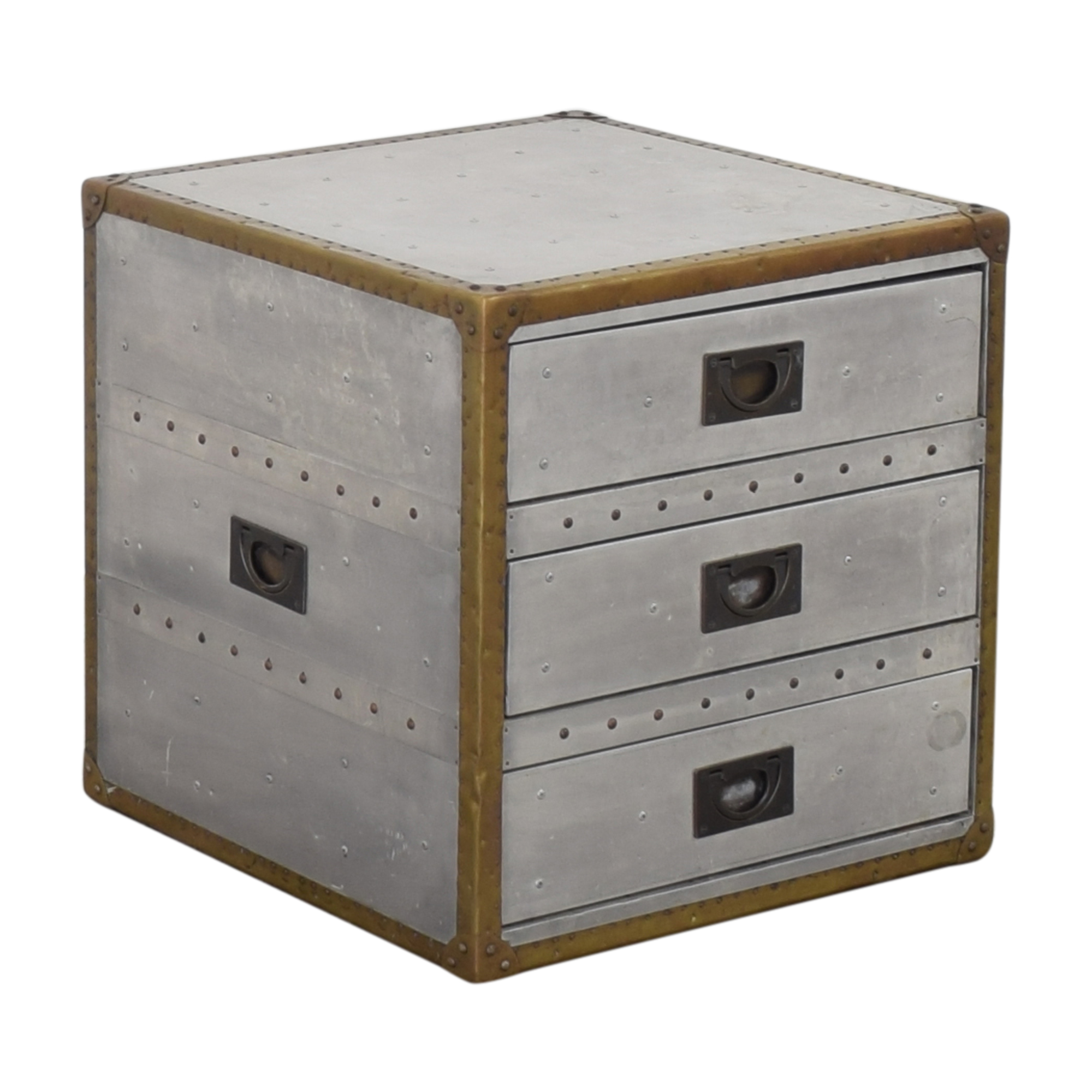 Restoration Hardware Restoration Hardware Aviator Trunk Three Drawer Cube used