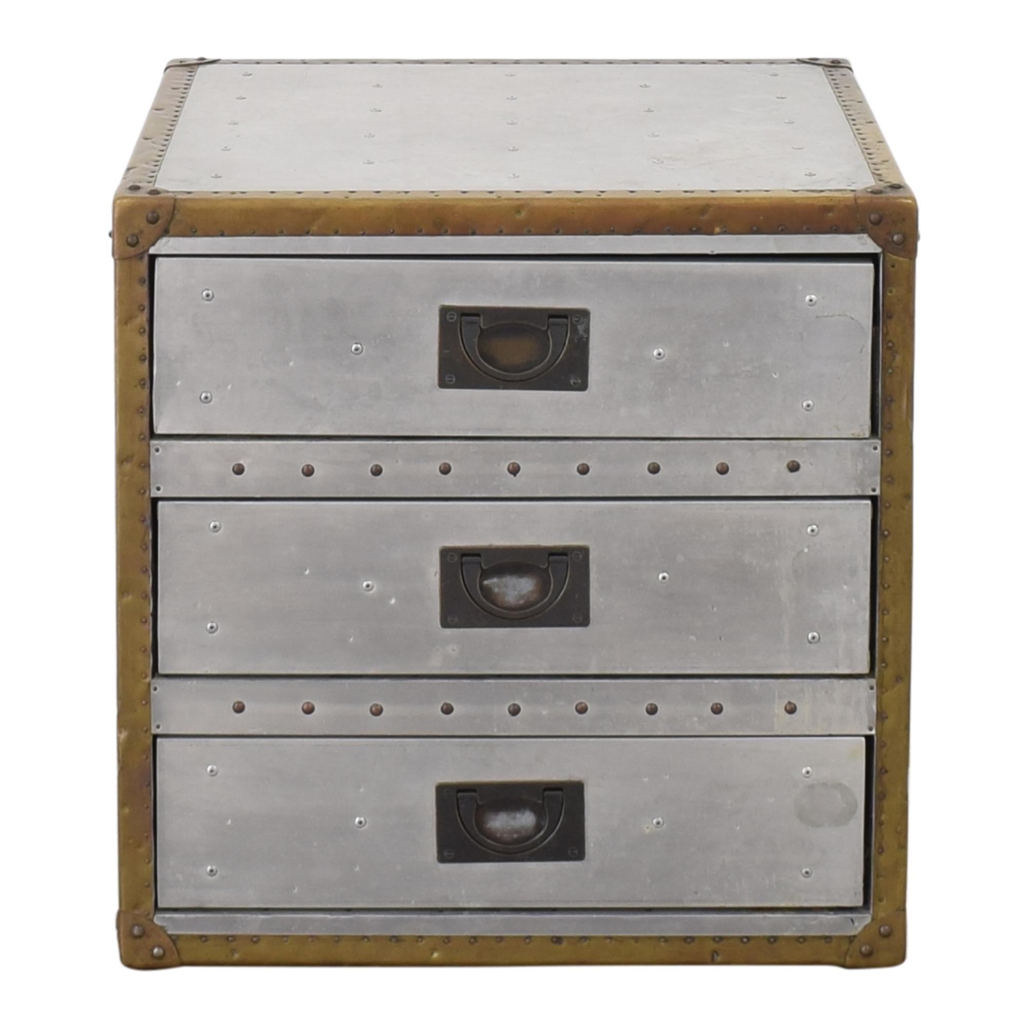 shop Restoration Hardware Aviator Trunk Three Drawer Cube Restoration Hardware Tables