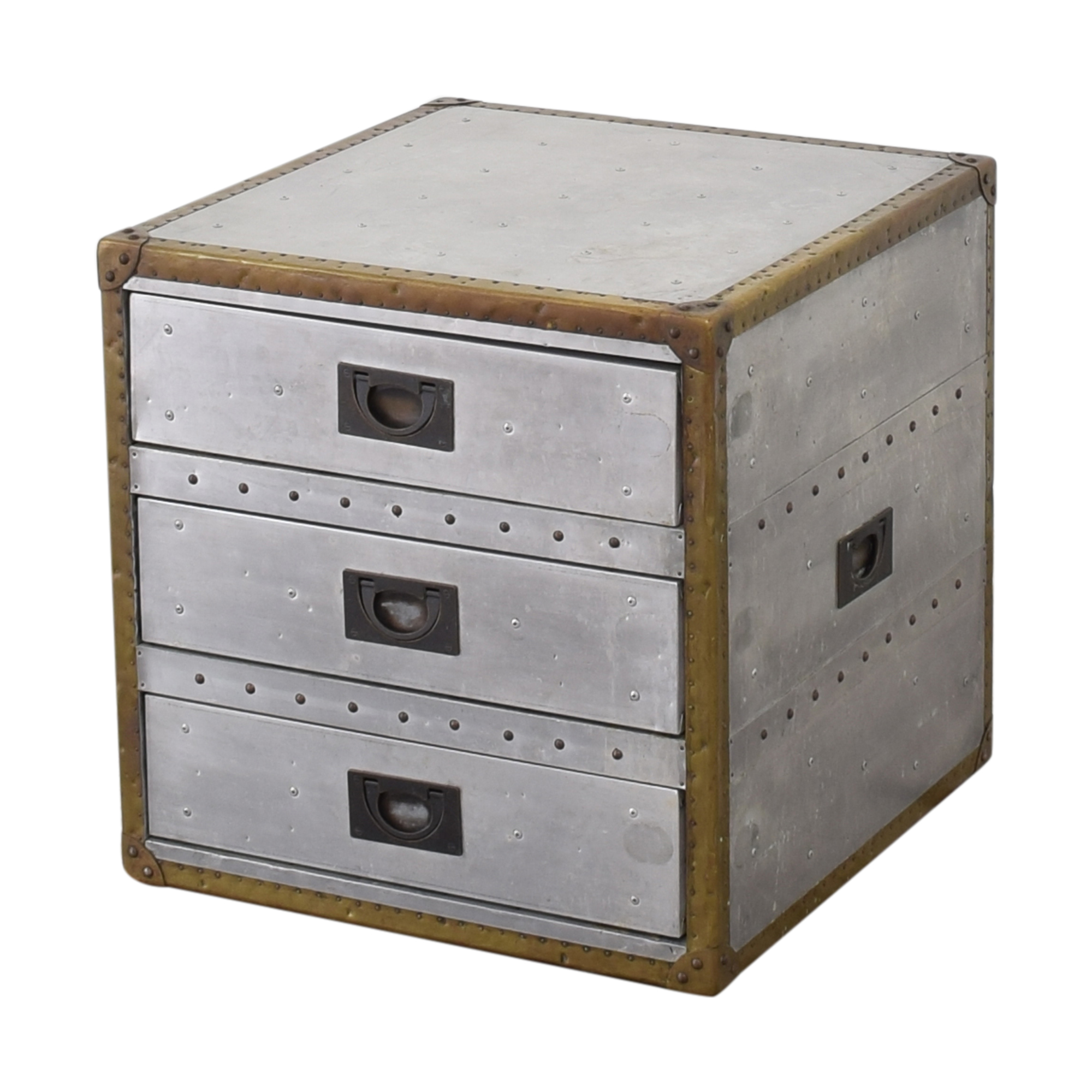 Restoration Hardware Restoration Hardware Aviator Trunk Three Drawer Cube ma