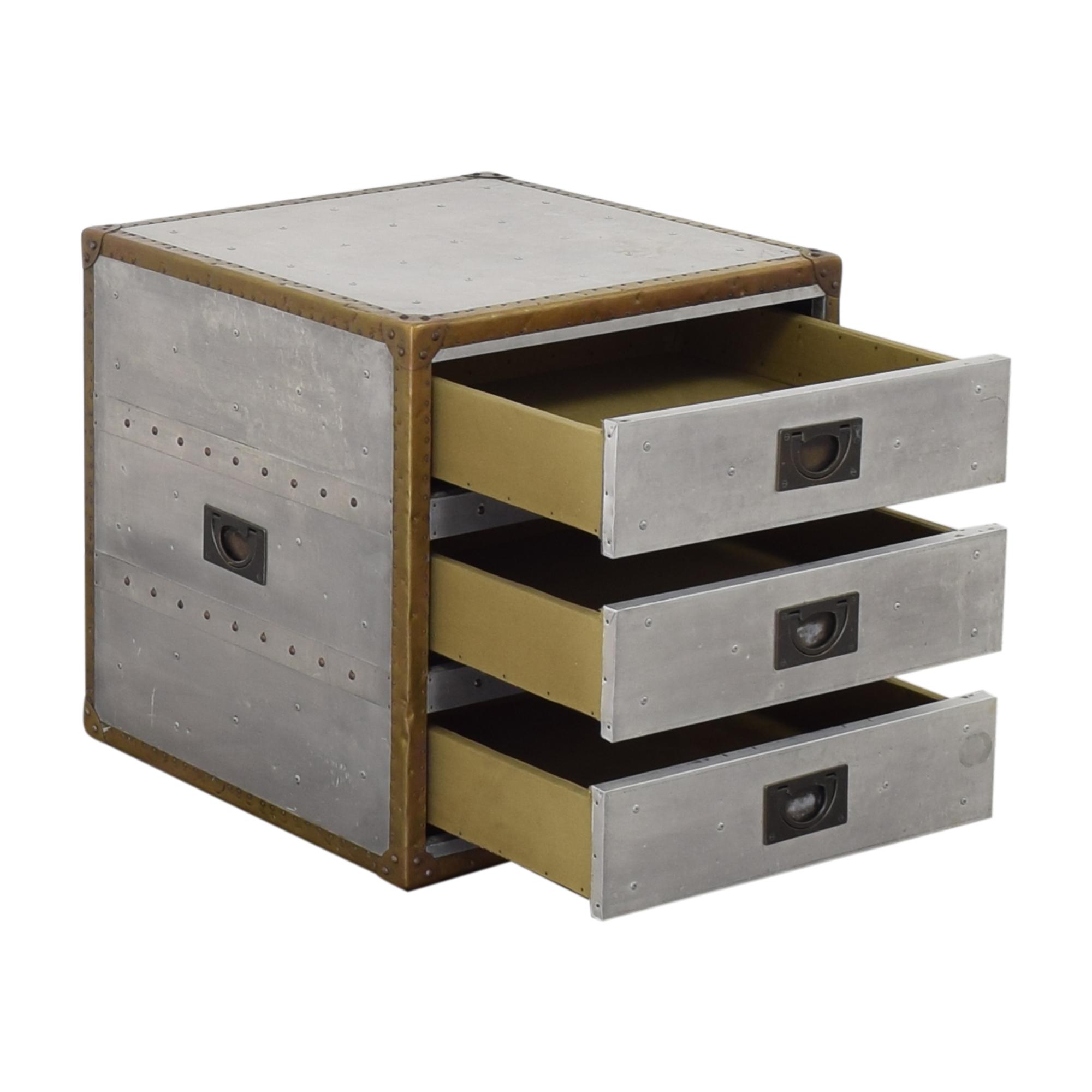 buy Restoration Hardware Aviator Trunk Three Drawer Cube Restoration Hardware End Tables