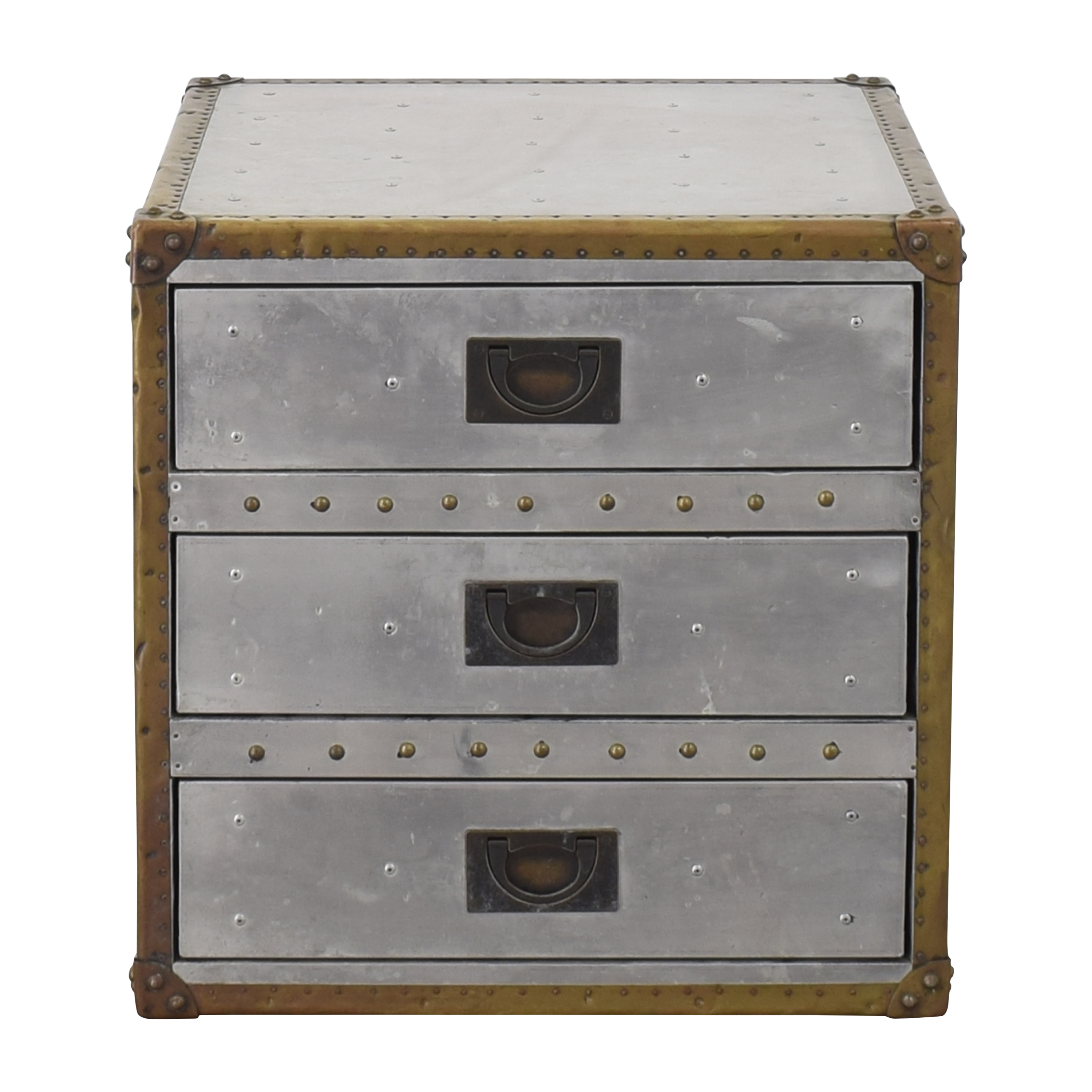 Restoration Hardware Restoration Hardware Aviator Trunk 3-Drawer Cube discount