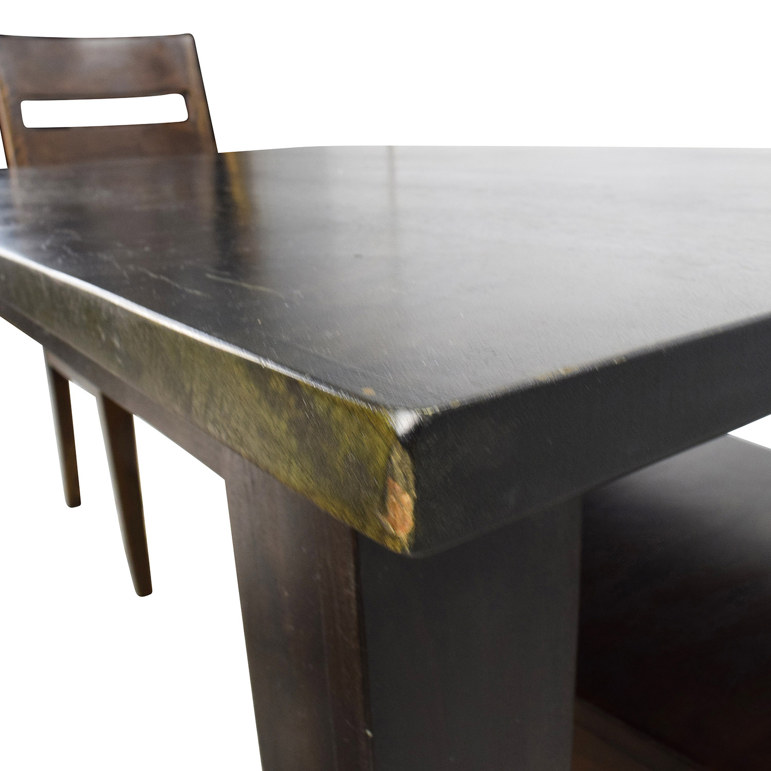 54 Off Crate Barrel Basque Java Dining Table Set Tables