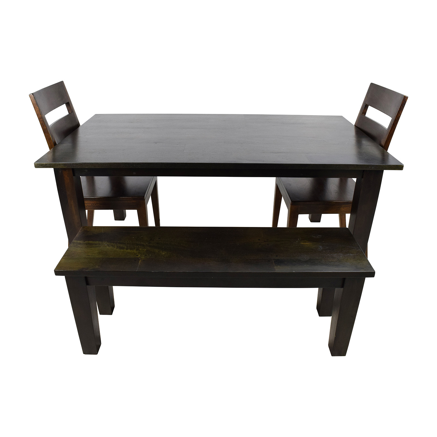 Crate and Barrel Crate & Barrel Basque Java Dining Table Set dimensions