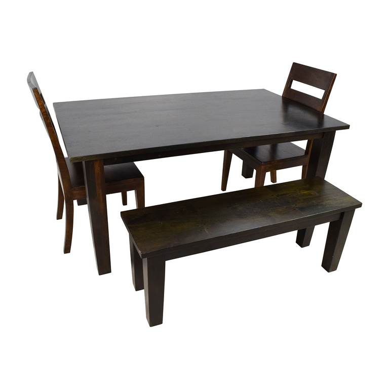 Crate & Barrel Basque Java Dining Table Set sale