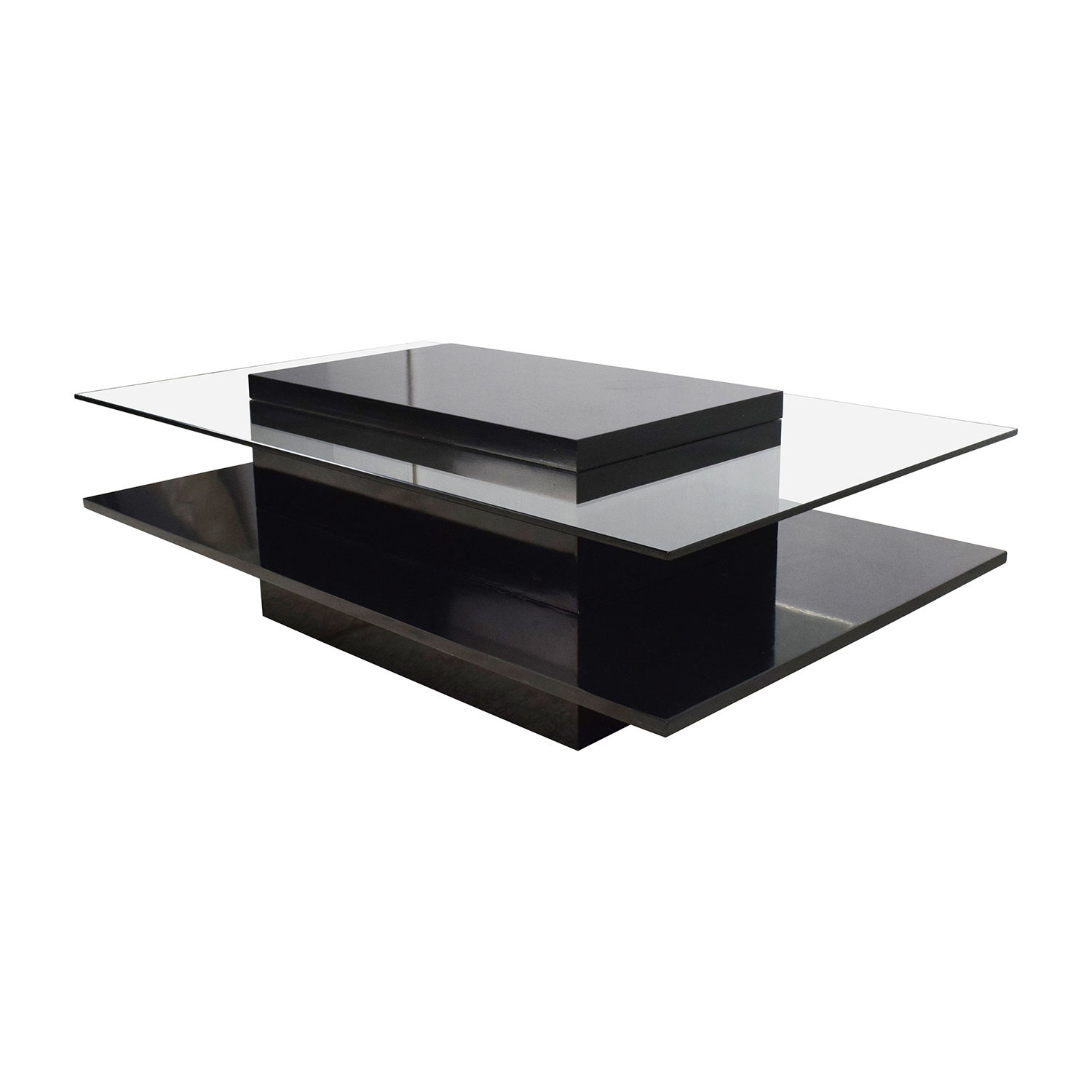 79% OFF Door Store The Door Store Glass and Wood Coffee Table