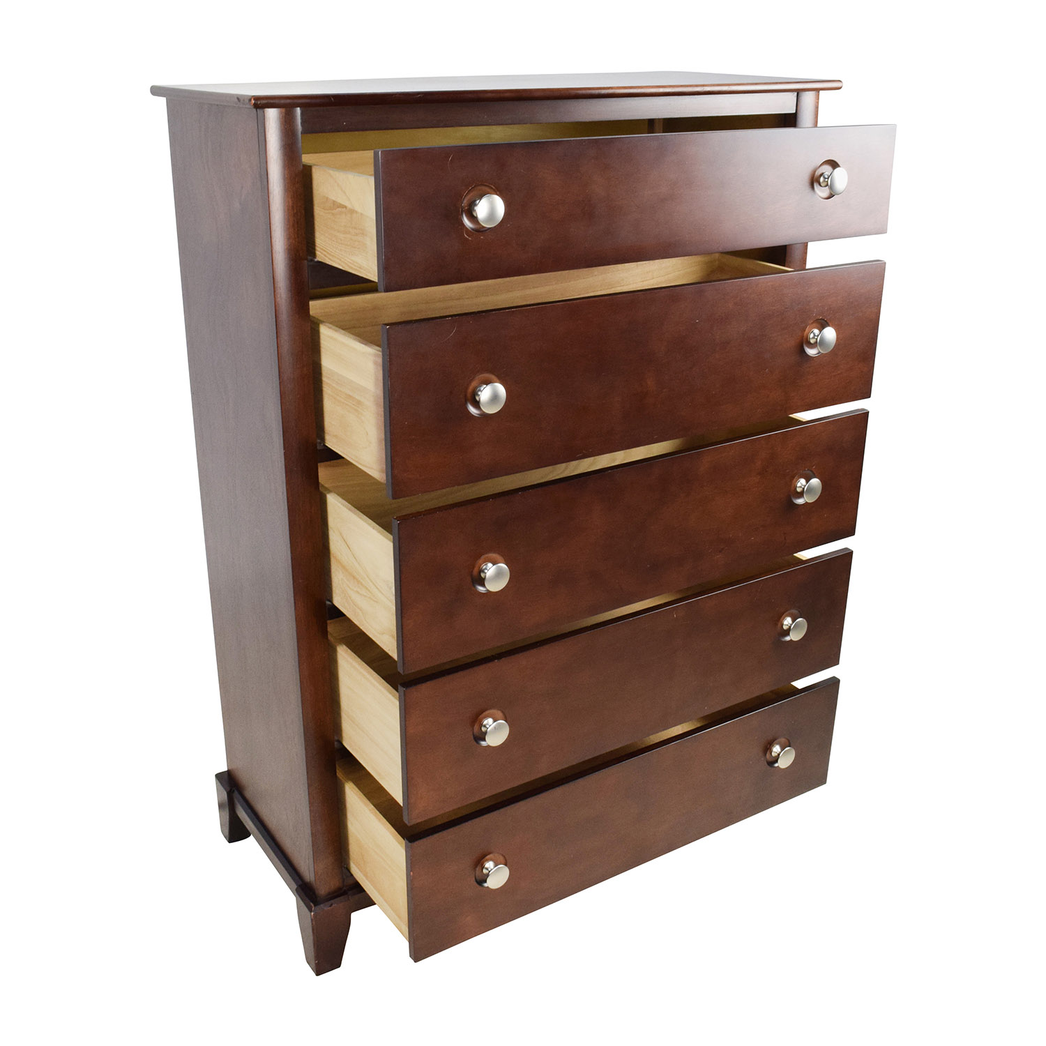 53 off solid dark wood tall dresser storage for Dark wood furniture