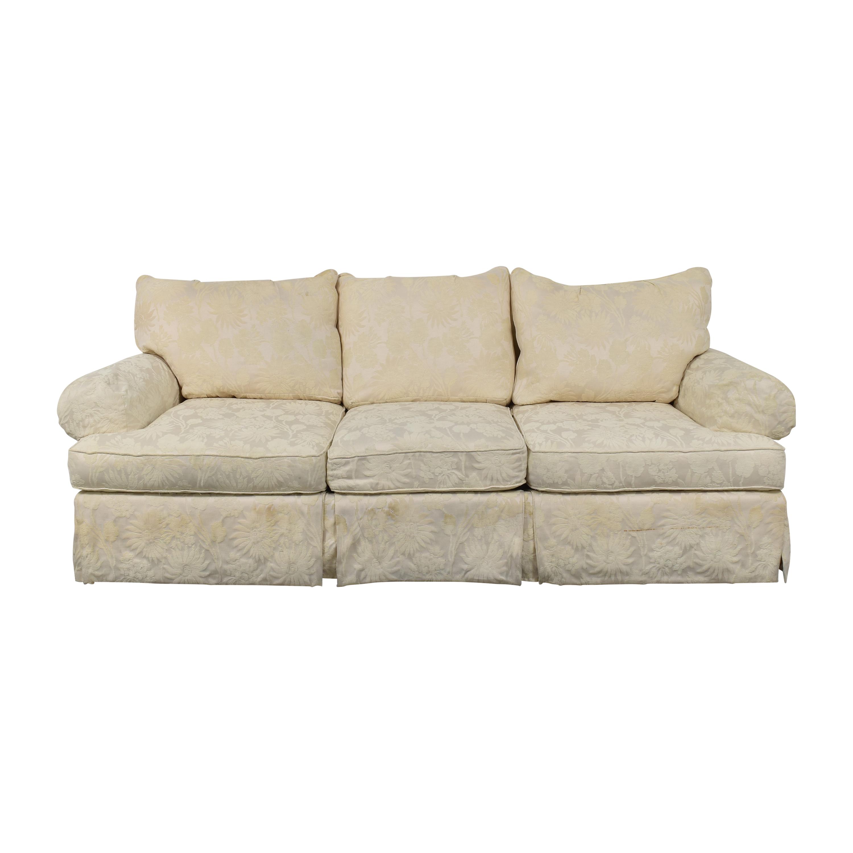 buy Bernhardt Roll Arm Three Cushion Sofa Bernhardt Sofas