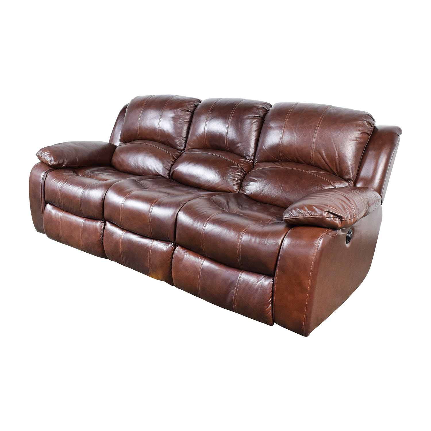 ... Raymour And Flanigan Raymour U0026 Flanigan Bryant II Leather Power Reclining  Sofa ...