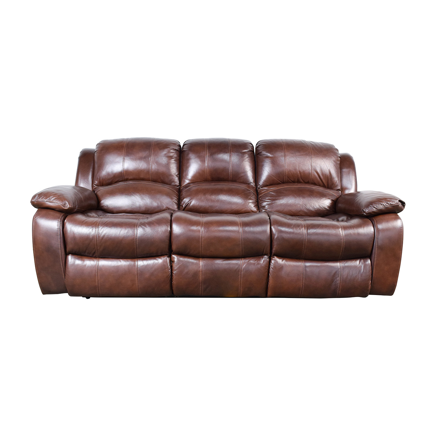 Raymour And Flanigan Bryant Ii Leather Reclining Sofa Nyc