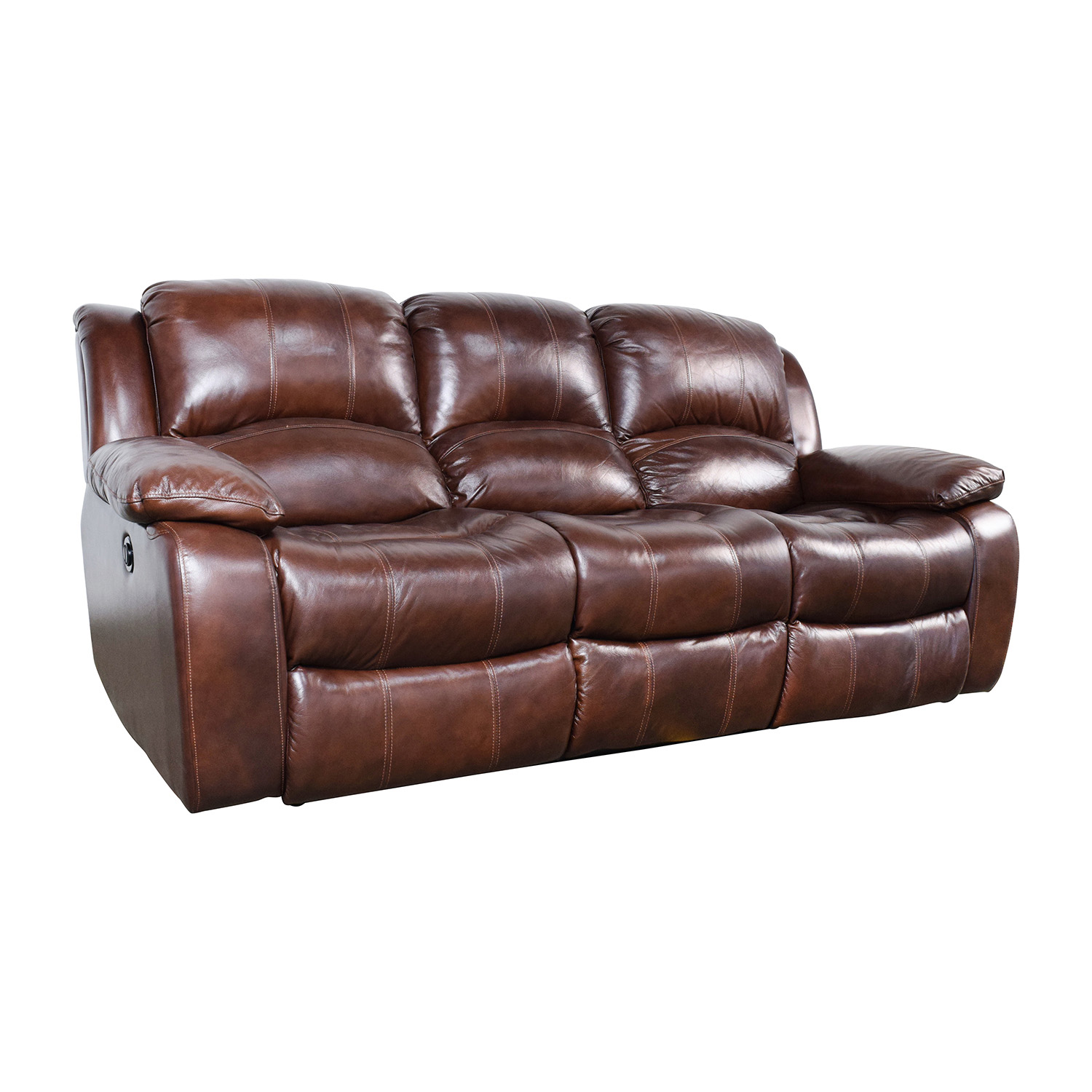 51% OFF   Raymour U0026 Flanigan Raymour U0026 Flanigan Bryant II Leather Power  Reclining Sofa / Sofas
