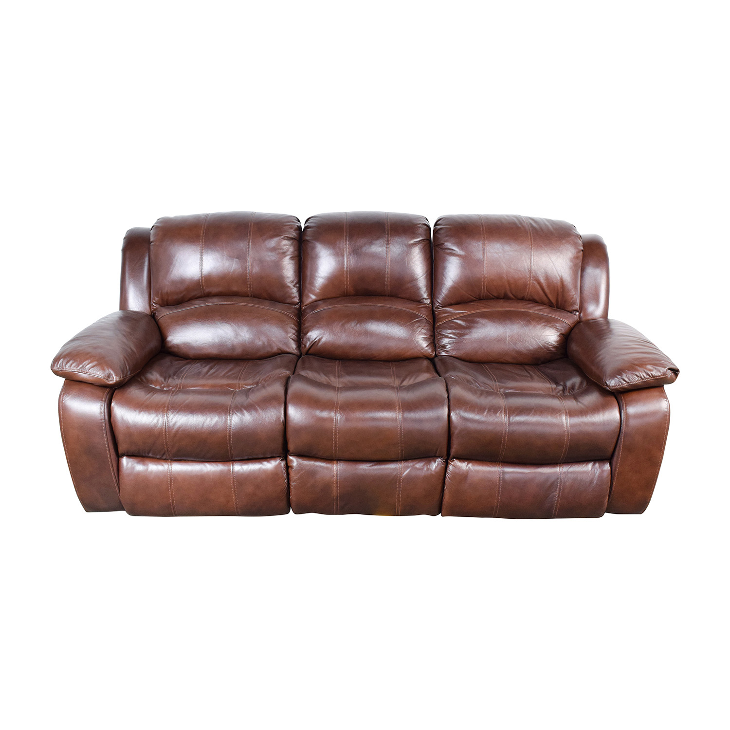 51 Off Raymour Flanigan Raymour Flanigan Bryant Ii Leather Power Reclining Sofa Sofas