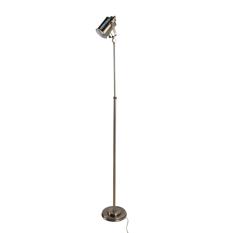50 off pottery barn pottery barn chrome adjustable for Made chrome floor lamp