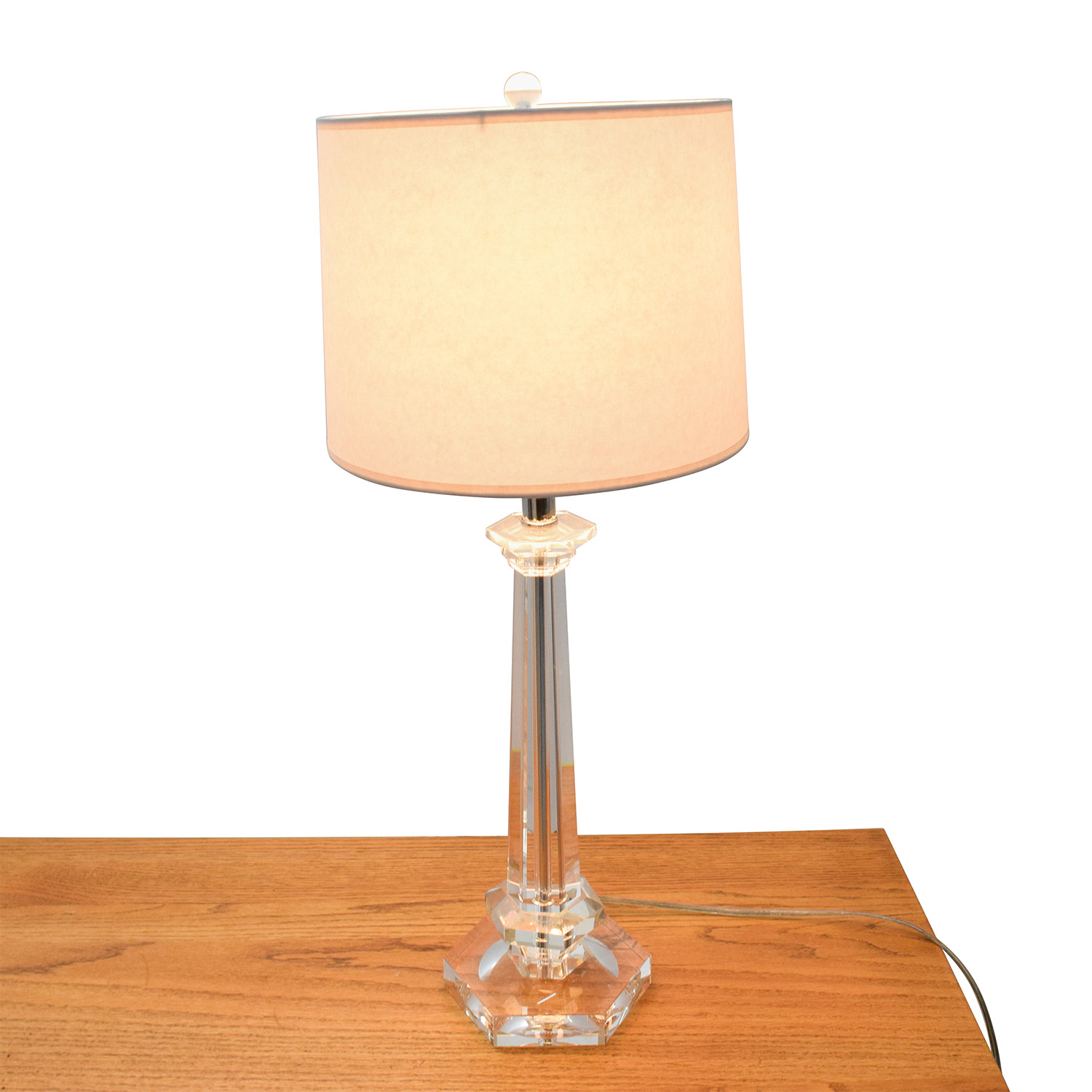shop Lucite Table Lamp with White Shade Sofas
