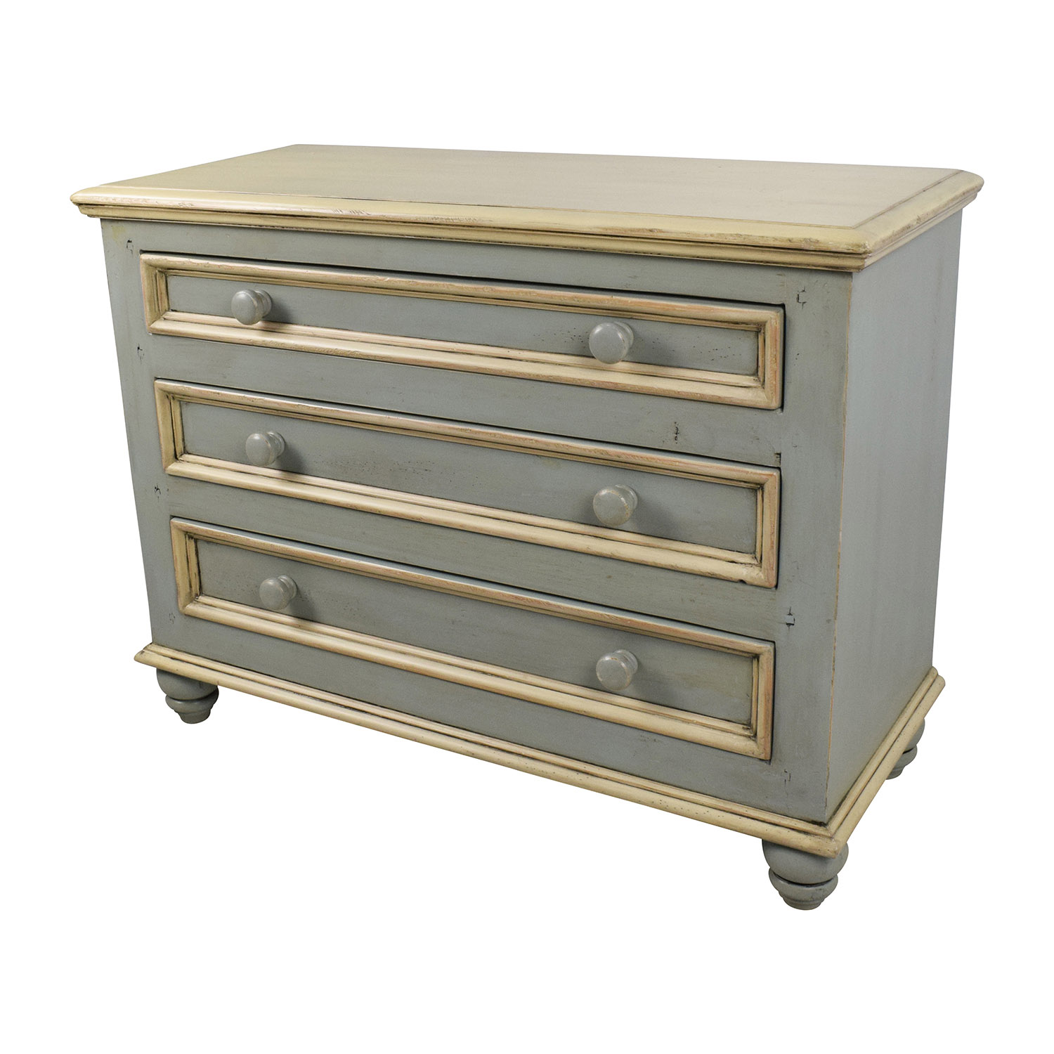 53% OFF Lillian August Lillian August Blue 3 Drawer Dresser