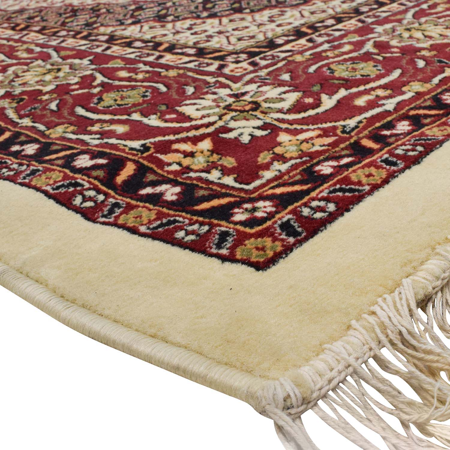 Tabriz Ivory, Burgundy and Navy Turkish Rug Decor