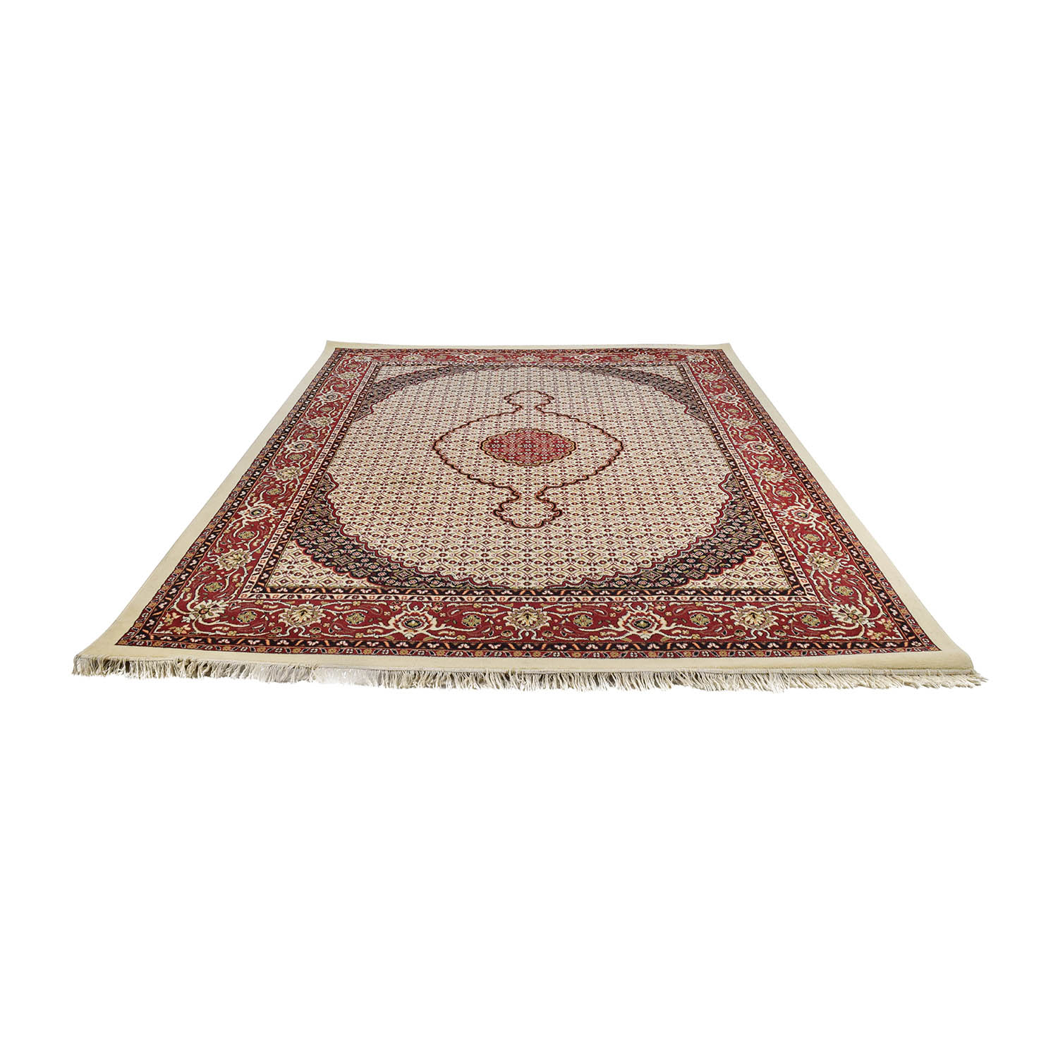 Tabriz Ivory, Burgundy and Navy Turkish Rug price