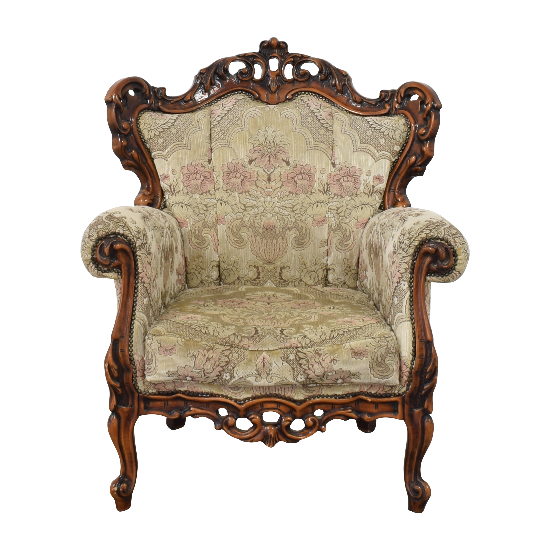 Roma Furniture Roma Furniture Ornate Wingback Chair coupon
