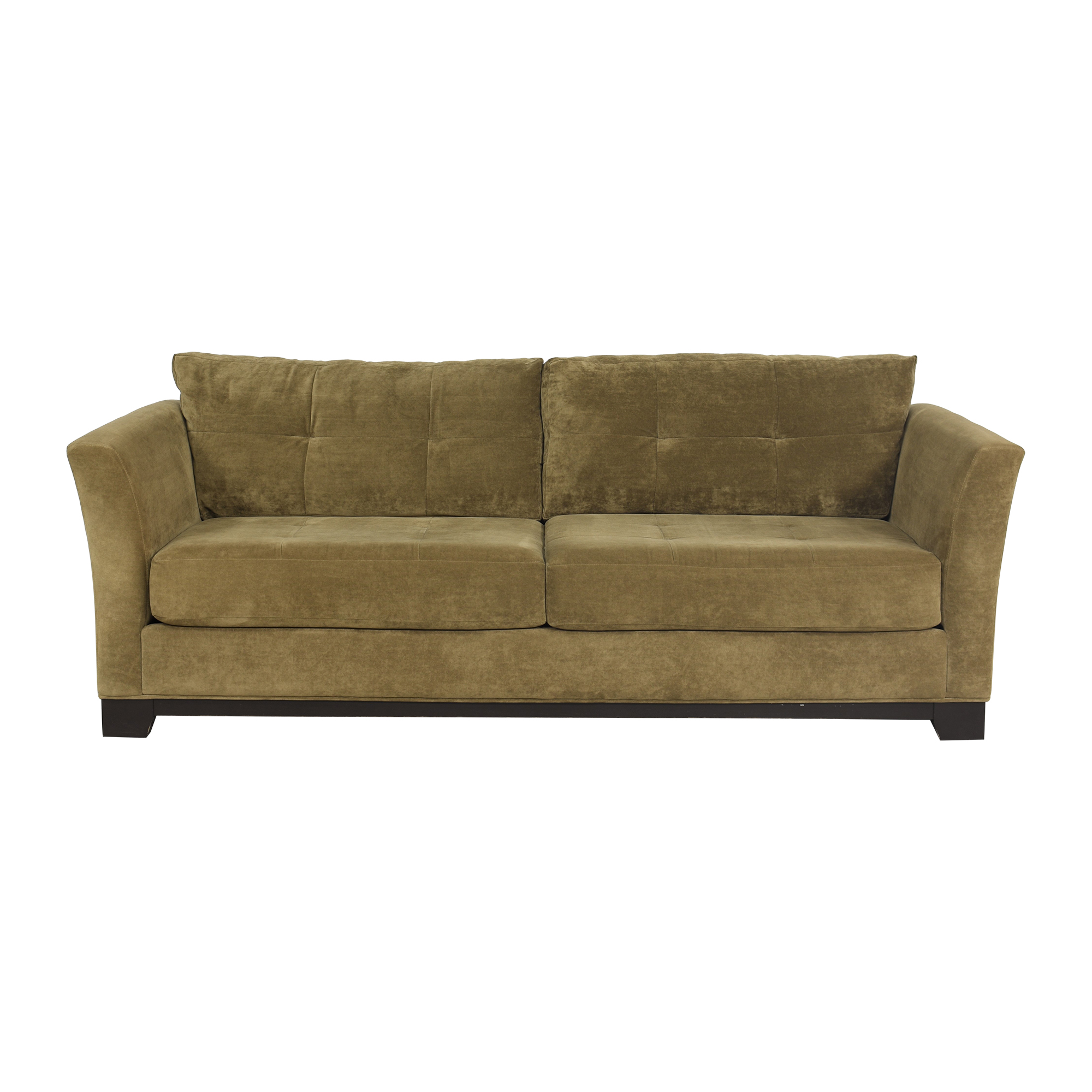 Flare Arm Two Cushion Sofa nyc