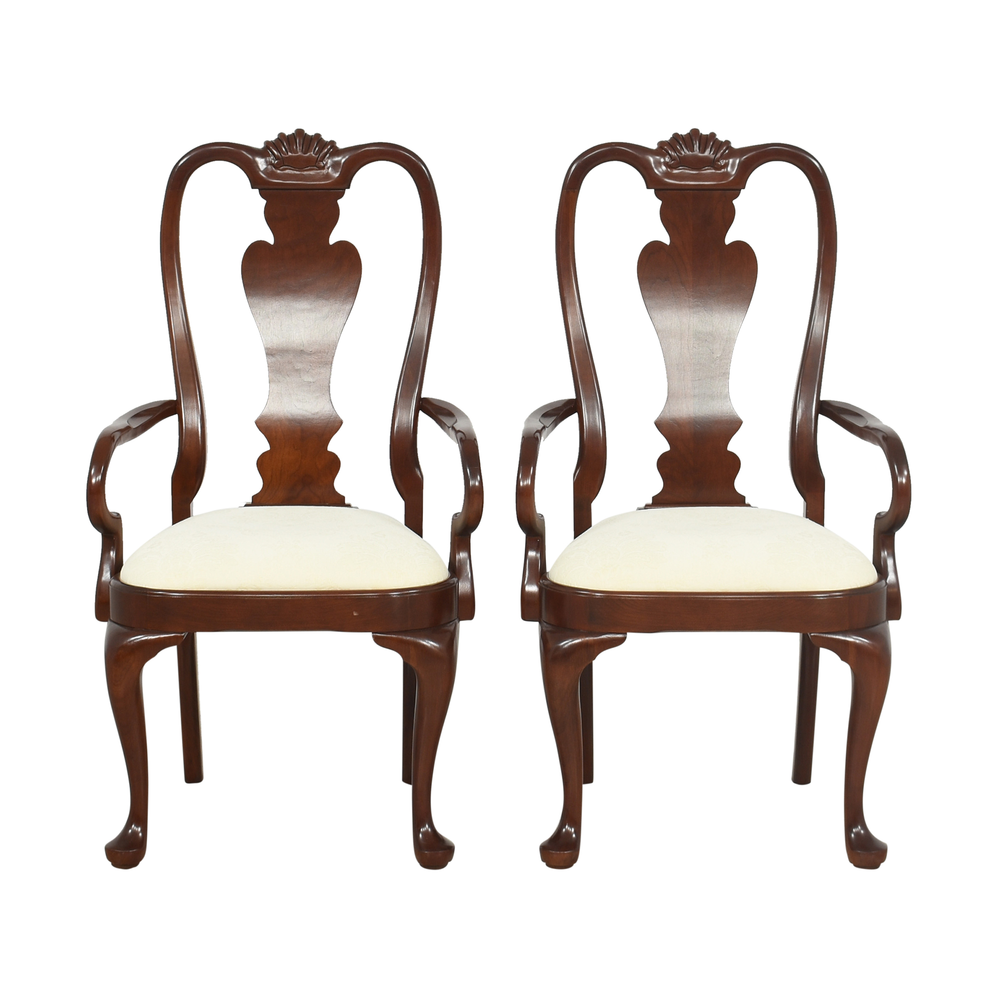 The Colonial Furniture Company Ashley Queen Anne Dining Arm Chairs / Chairs