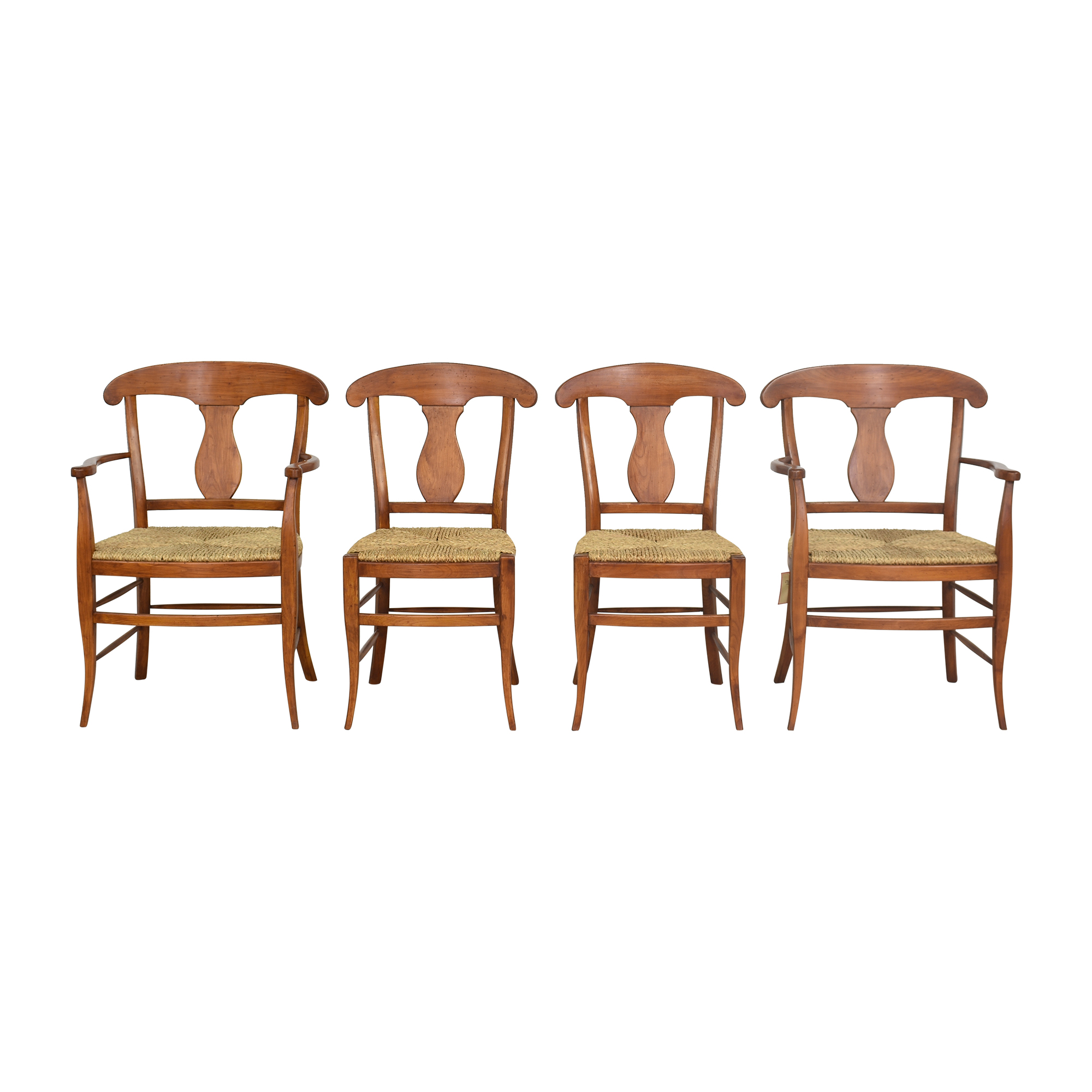 Empire Style Cane Seat Dining Chairs dimensions