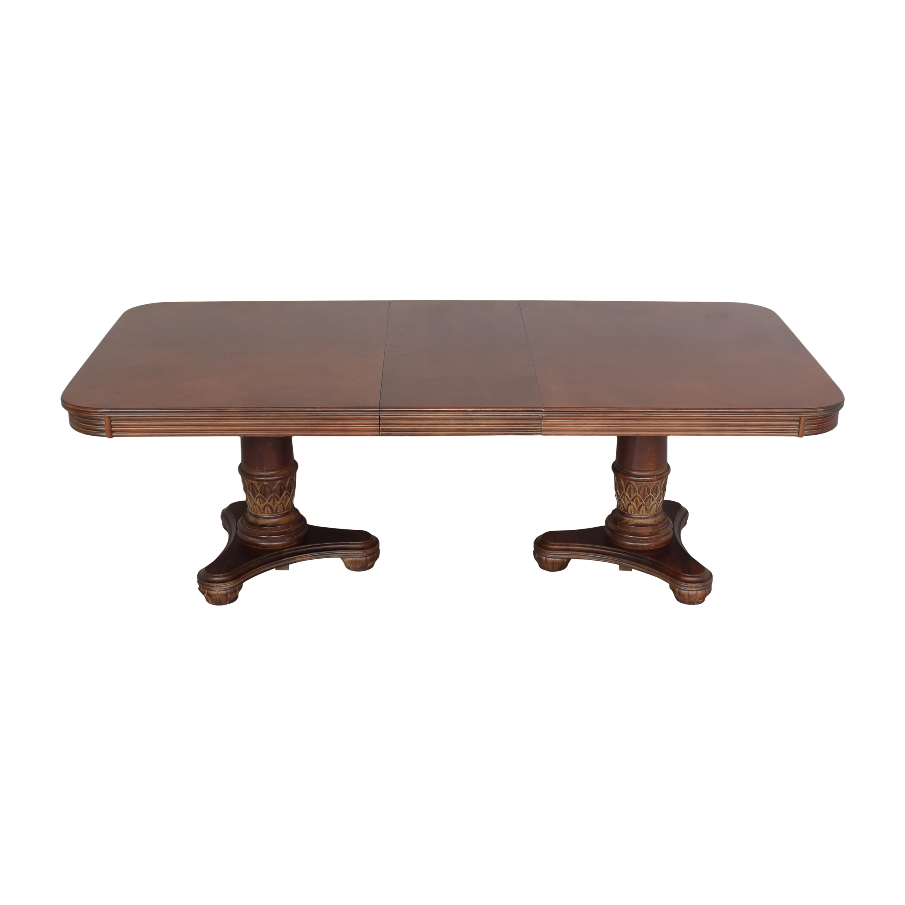 buy Broyhill Furniture Double Pedestal Extendable Dining Table Broyhill Furniture