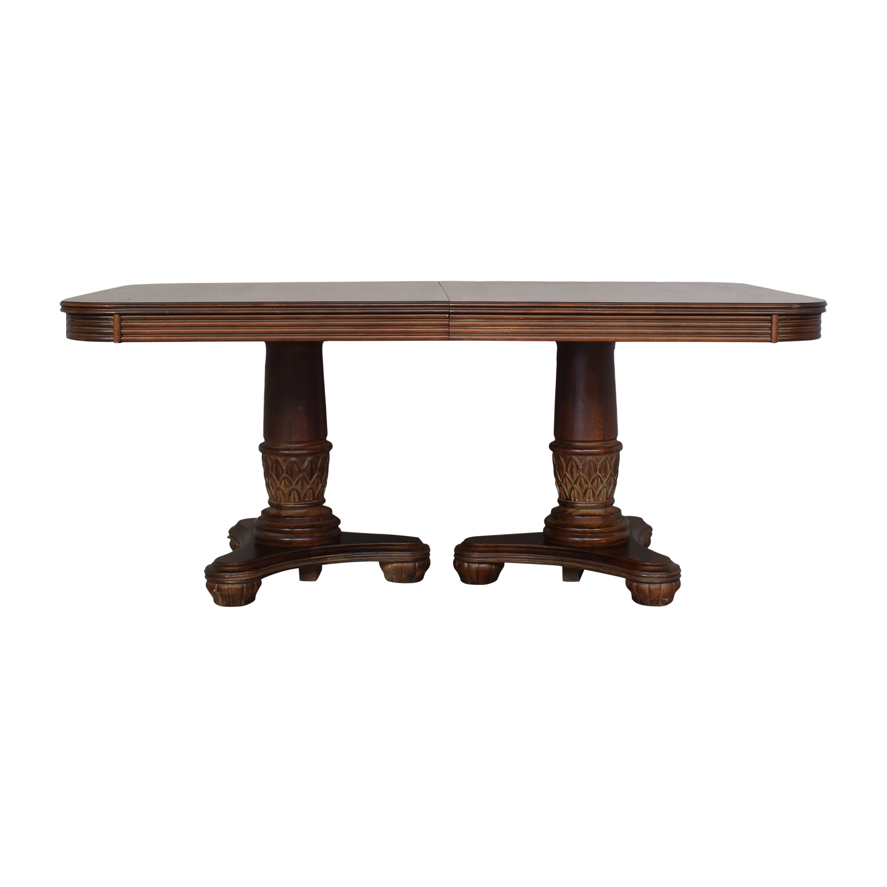 Broyhill Furniture Double Pedestal Extendable Dining Table sale