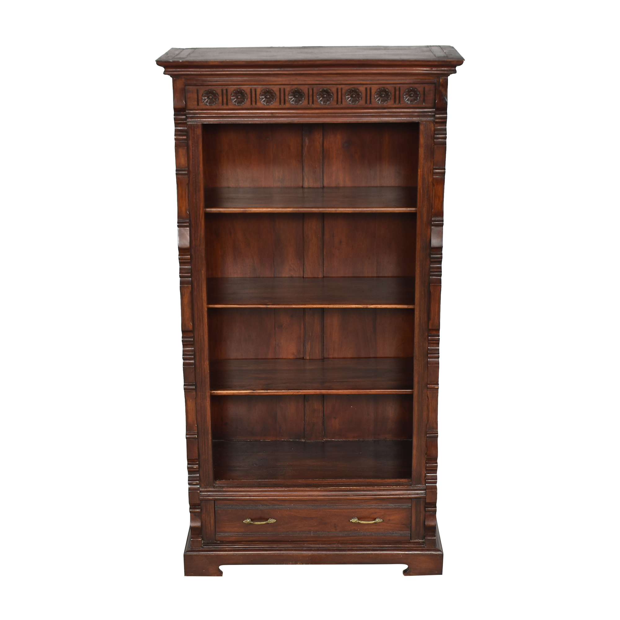 buy Vintage-Style Bookcase with Drawer  Bookcases & Shelving