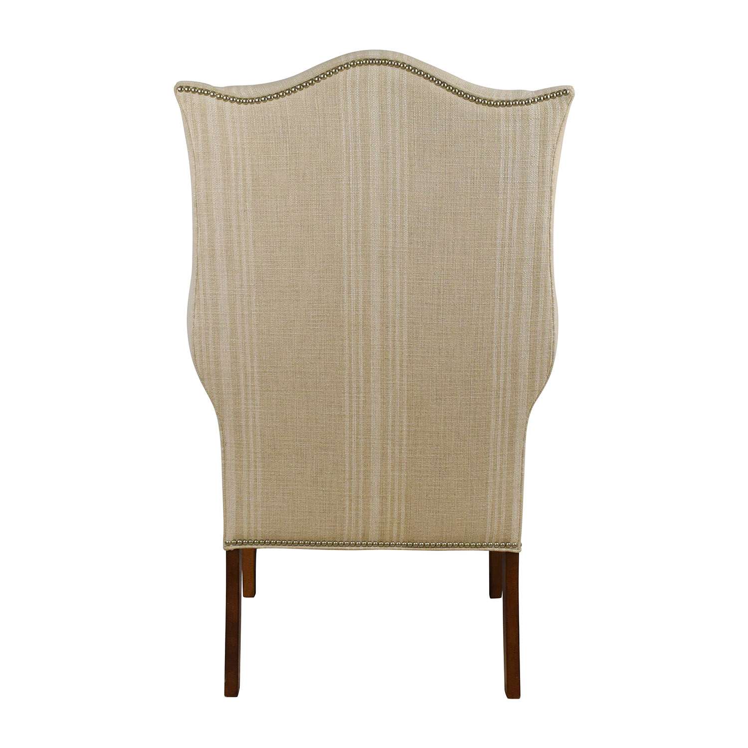 Ethan Allen Ethan Allen Skylar Stripped Wing Chair Chairs
