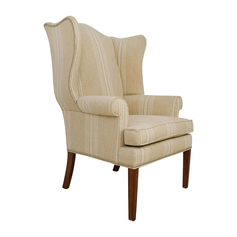 shop Ethan Allen Ethan Allen Skylar Stripped Wing Chair online