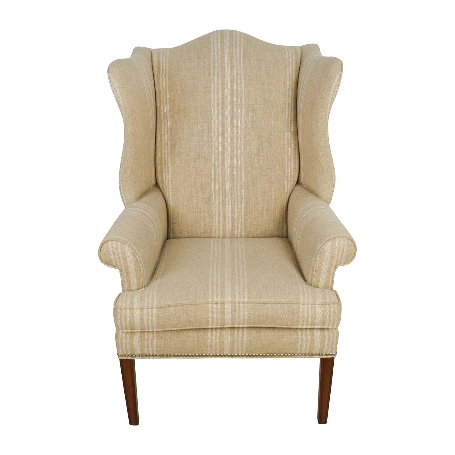 shop Ethan Allen Skylar Stripped Wing Chair Ethan Allen
