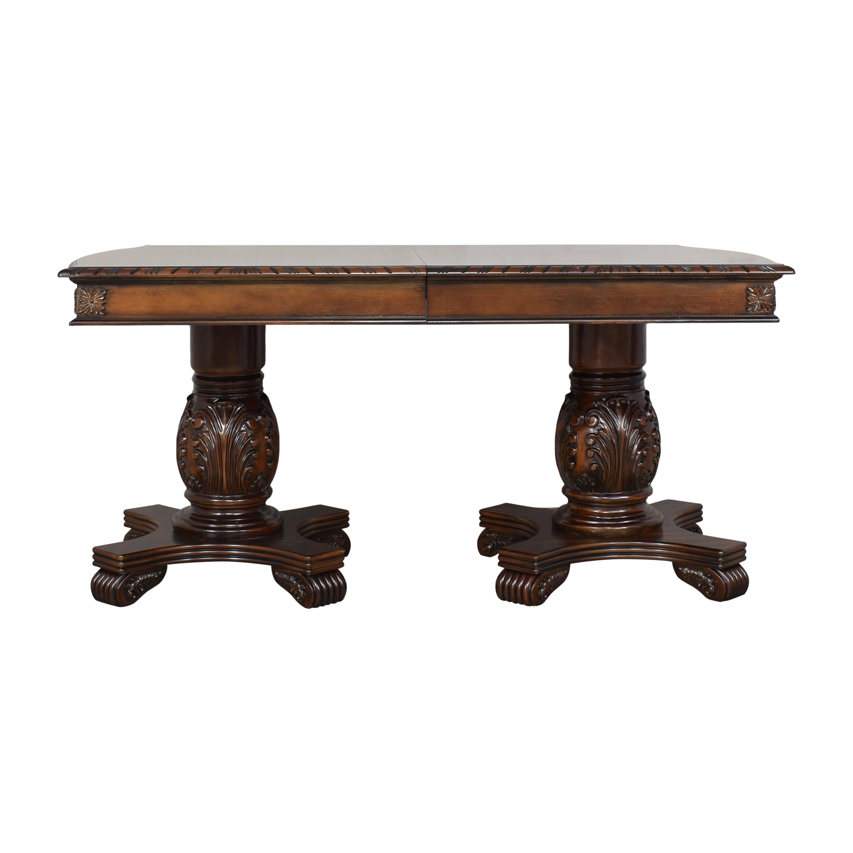 Mainline Mainline Veronica Double Pedestal Extendable Dining Table ma