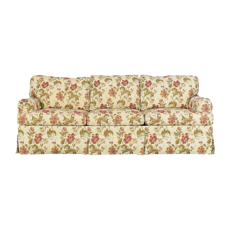 Ethan Allen Ethan Allen Skirted Three Cushion Sofa for sale