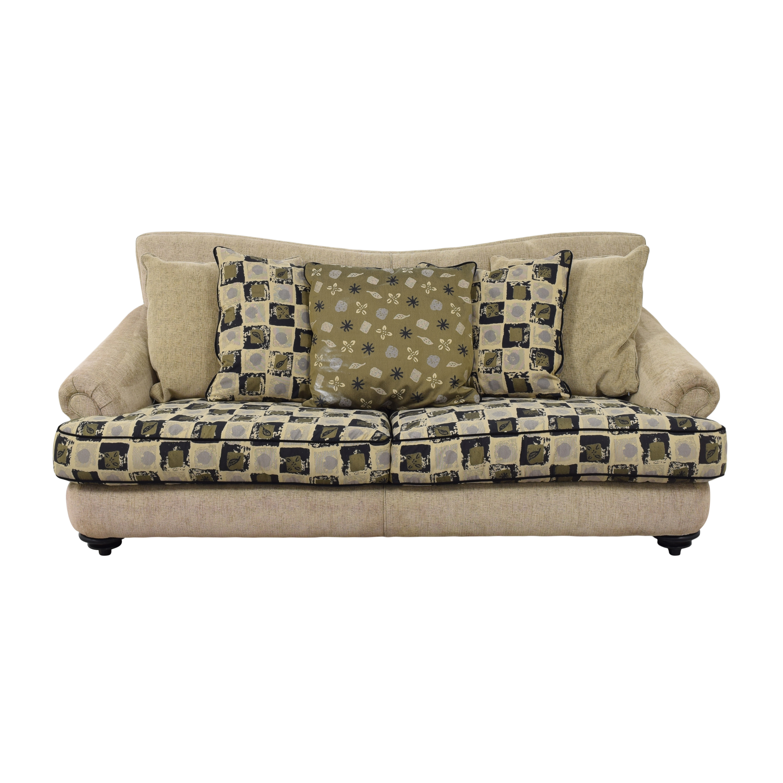 Thayer Coggin Thayer Coggin Roll Arm Sofa tan