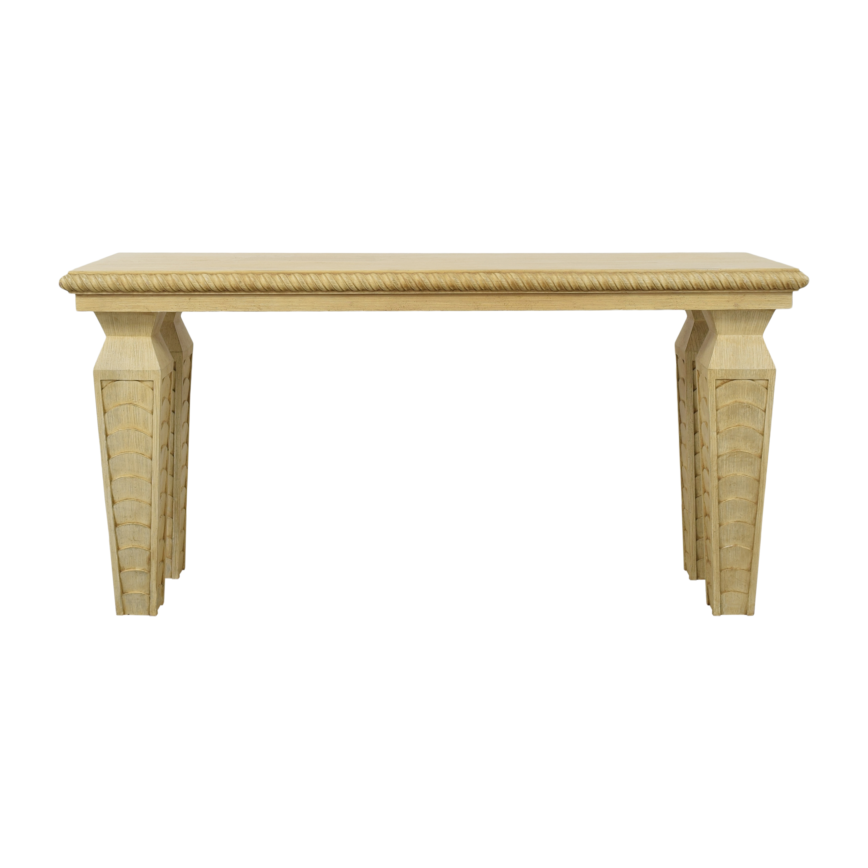 Console Table with Scalloped Legs used