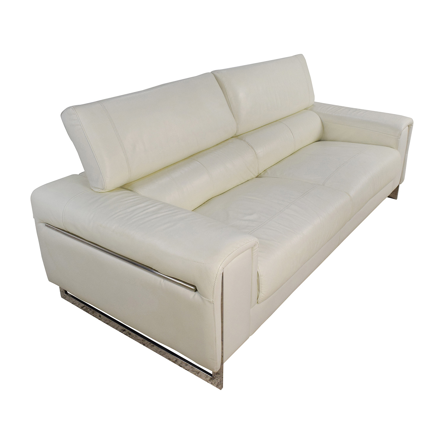 64 off jnm j m soho white leather sofa sofas. Black Bedroom Furniture Sets. Home Design Ideas
