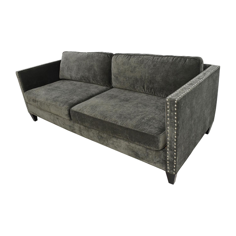 51 Off Rowe Rowe Mitchell Grey Sofa Sofas